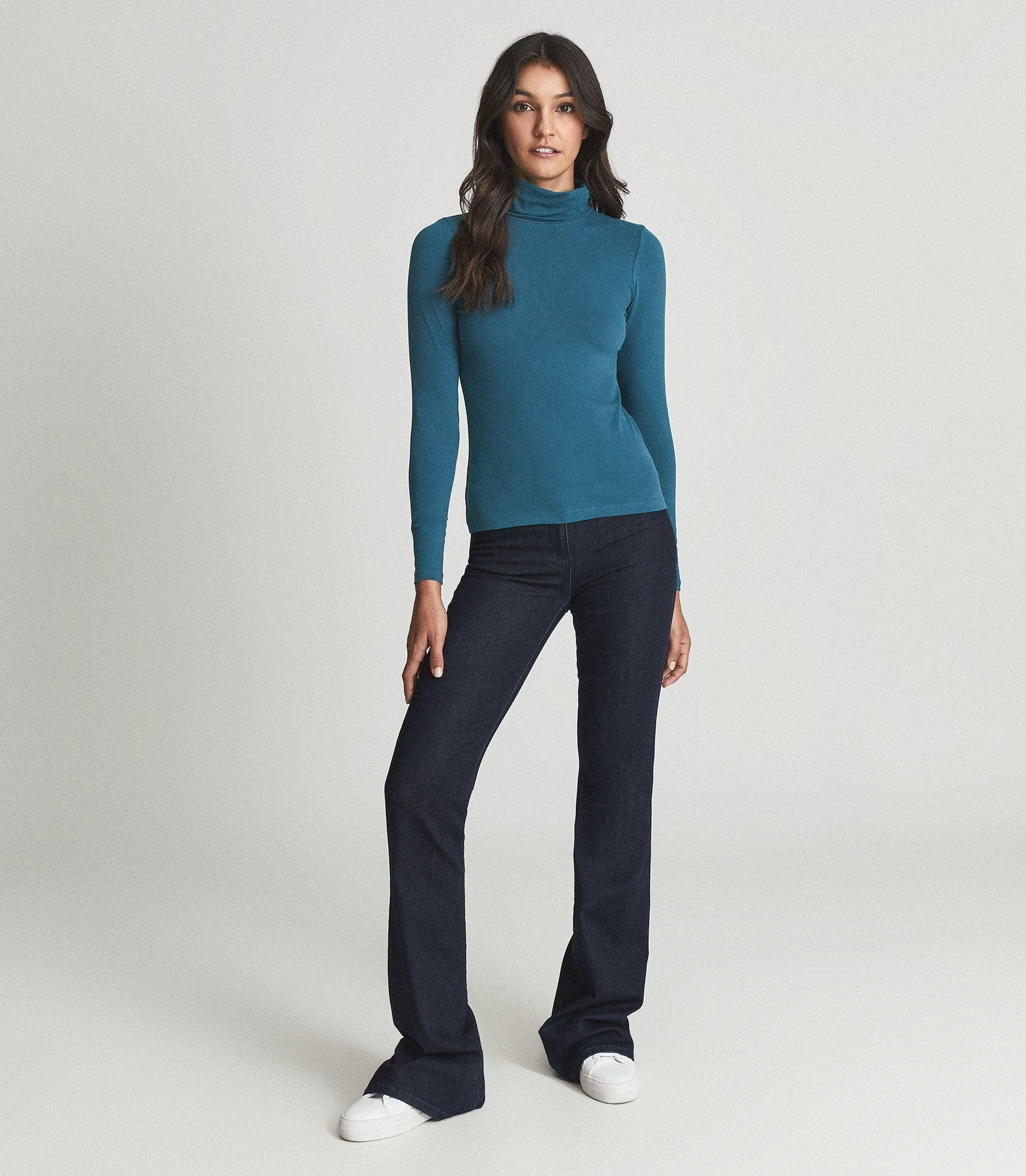 PHOEBE - JERSEY ROLL NECK TOP
