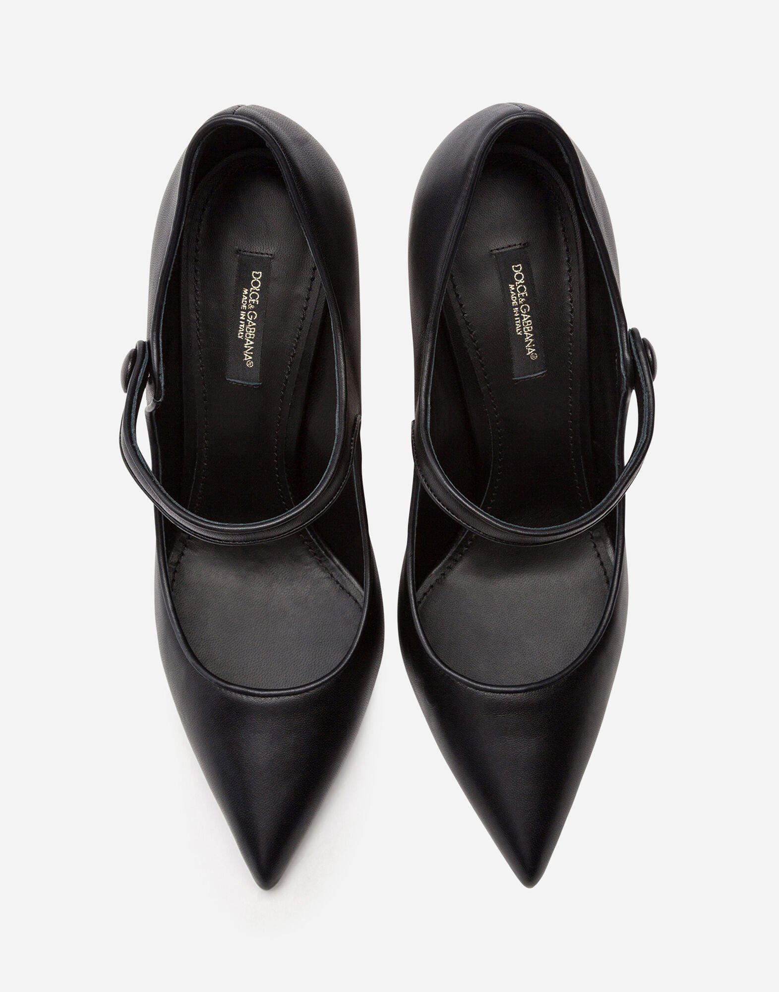 Nappa leather Mary Jane with baroque D&G heel 3