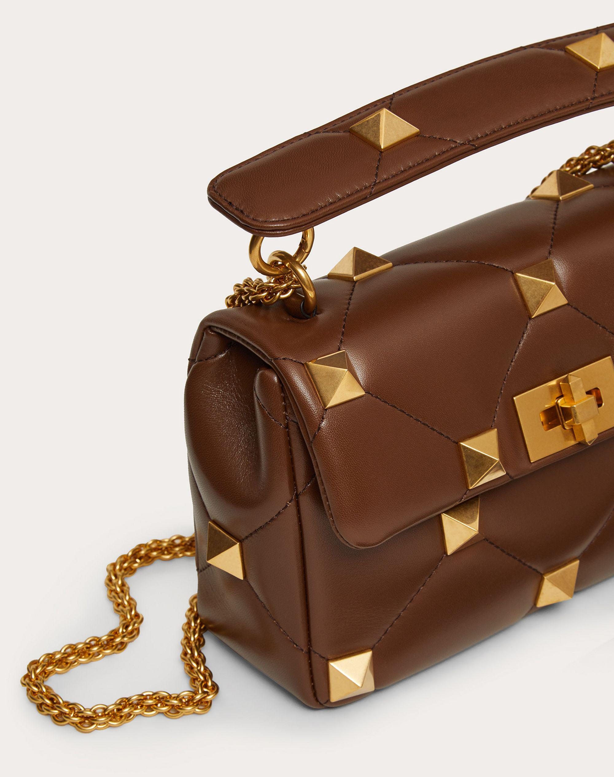 Medium Roman Stud The Shoulder Bag in Nappa with Chain 4
