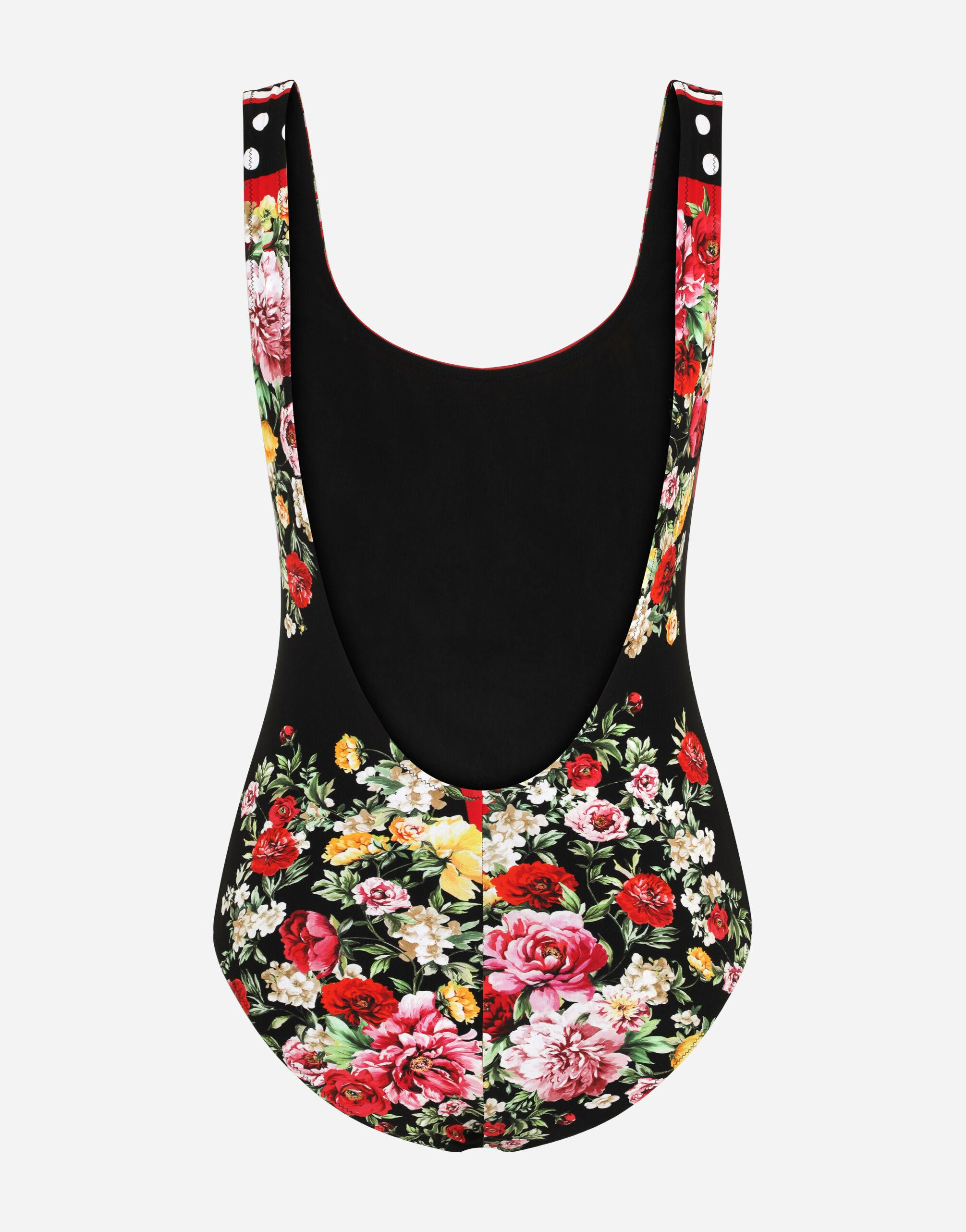One-piece swimsuit with lion mix print 3