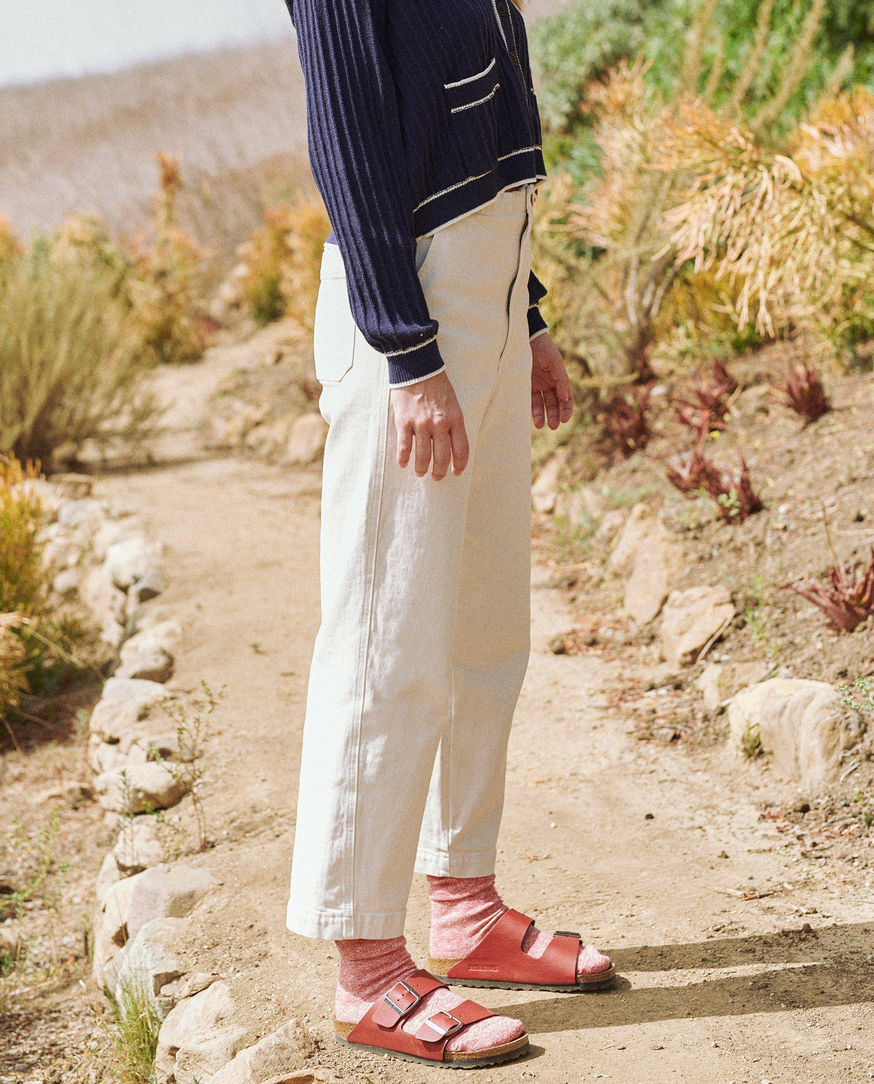 The Buckle Back Trouser. -- Stone 2