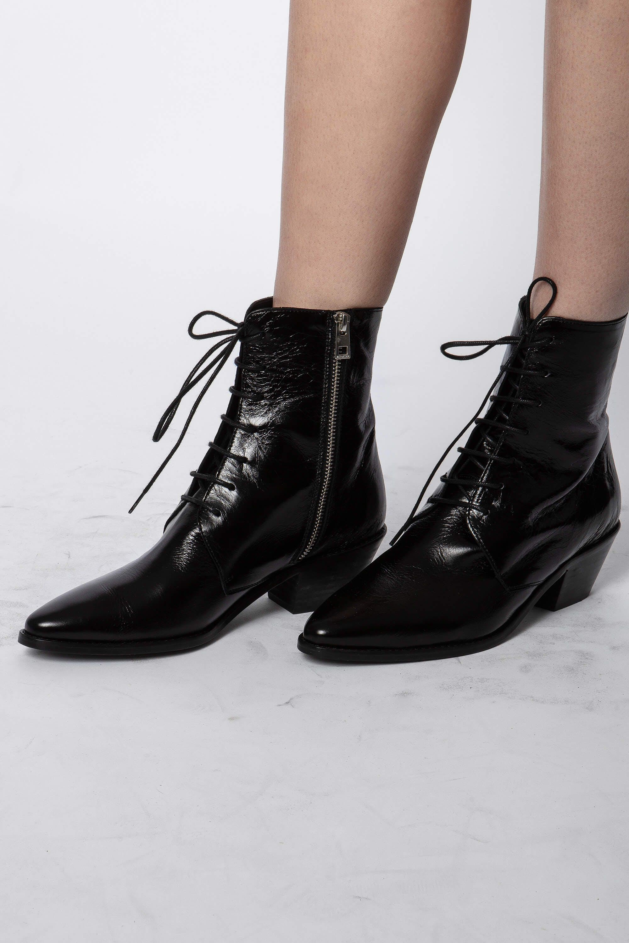 Tyler Laced Vintage Ankle Boots 4