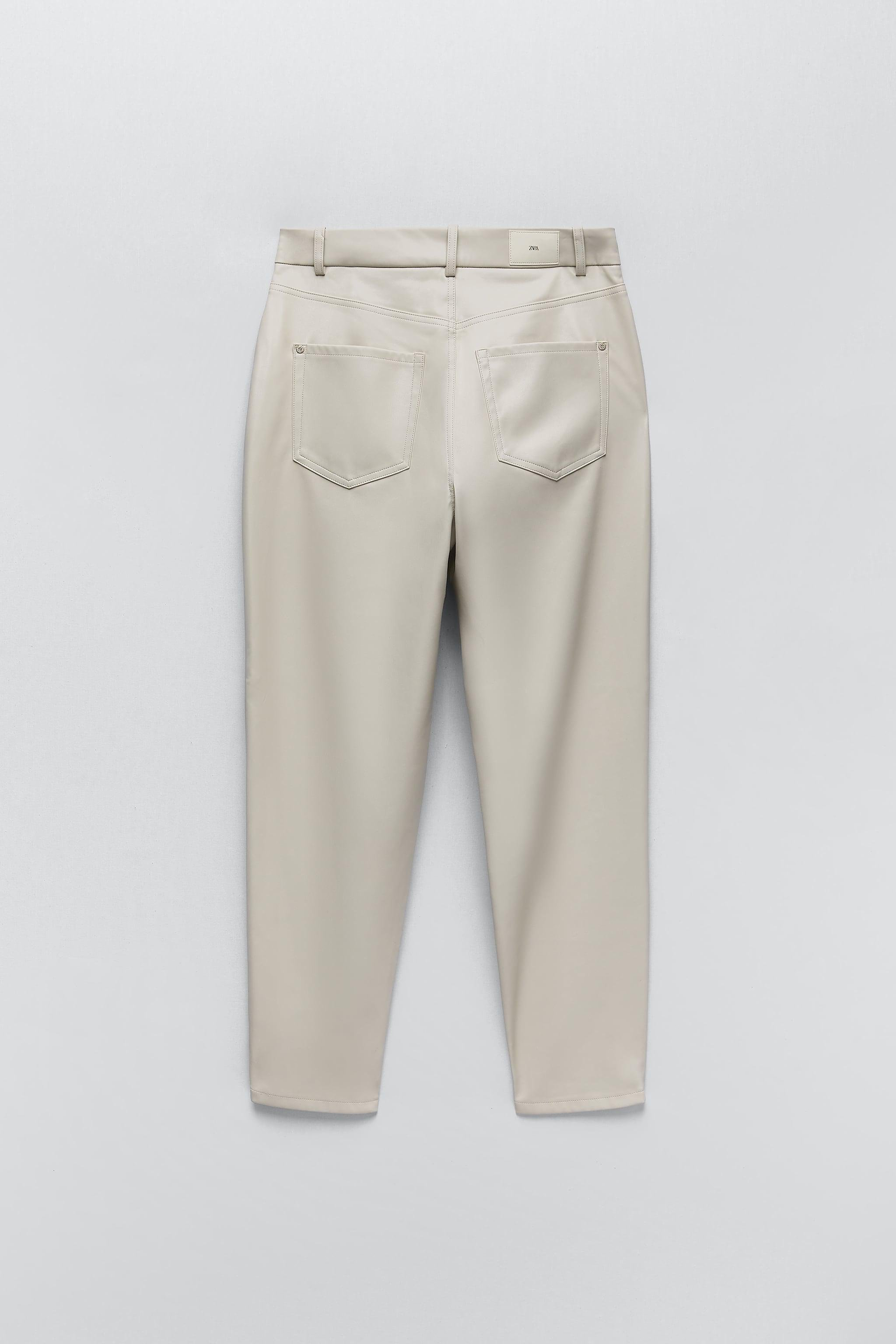 FAUX LEATHER MOM FIT PANTS 5