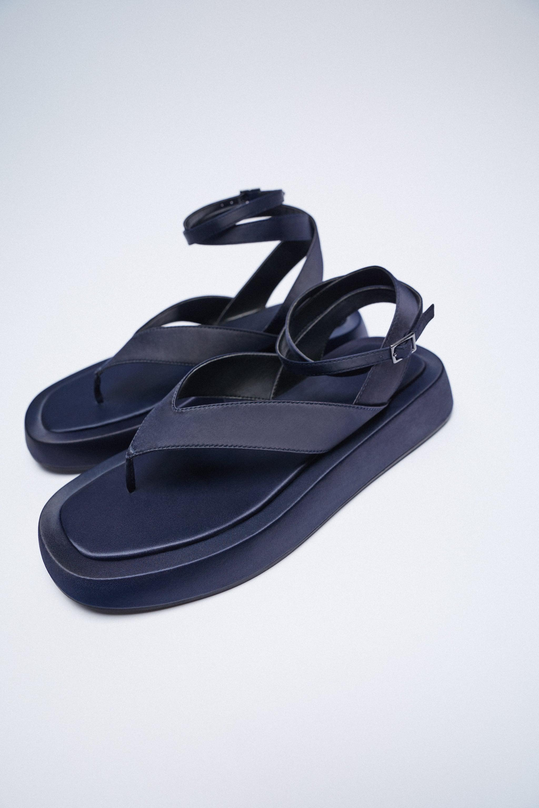 CHUNKY SATIN EFFECT SANDALS 5