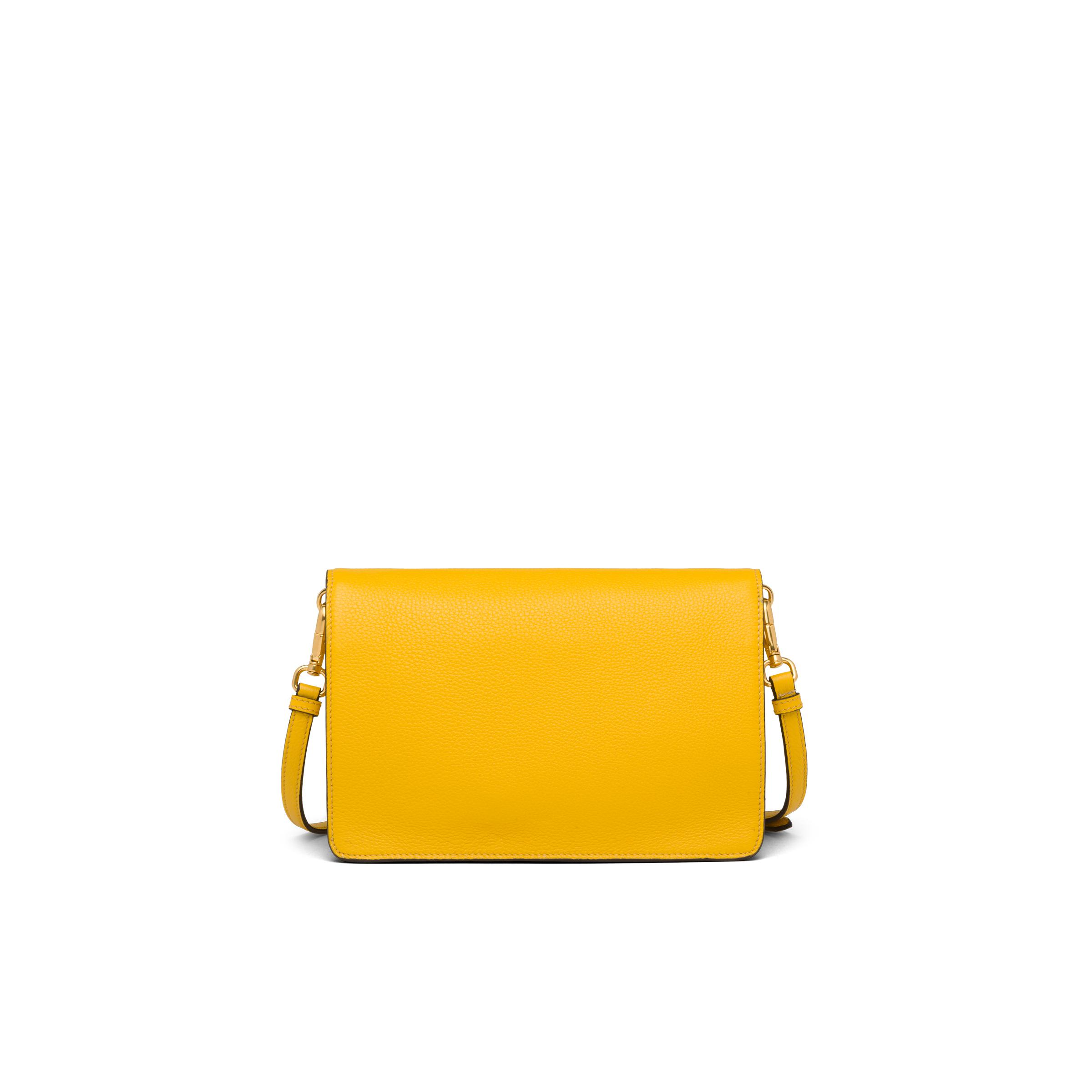 Leather Shoulder Bag Women Sunny Yellow 3