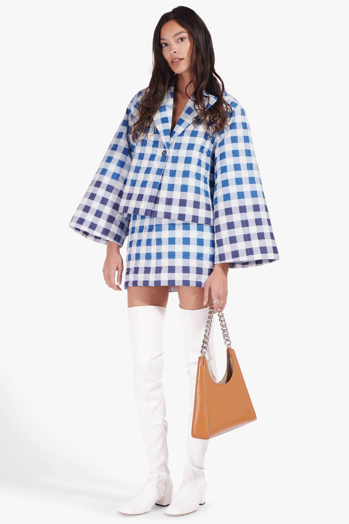RIDER JACKET | BLUE OMBRE GINGHAM