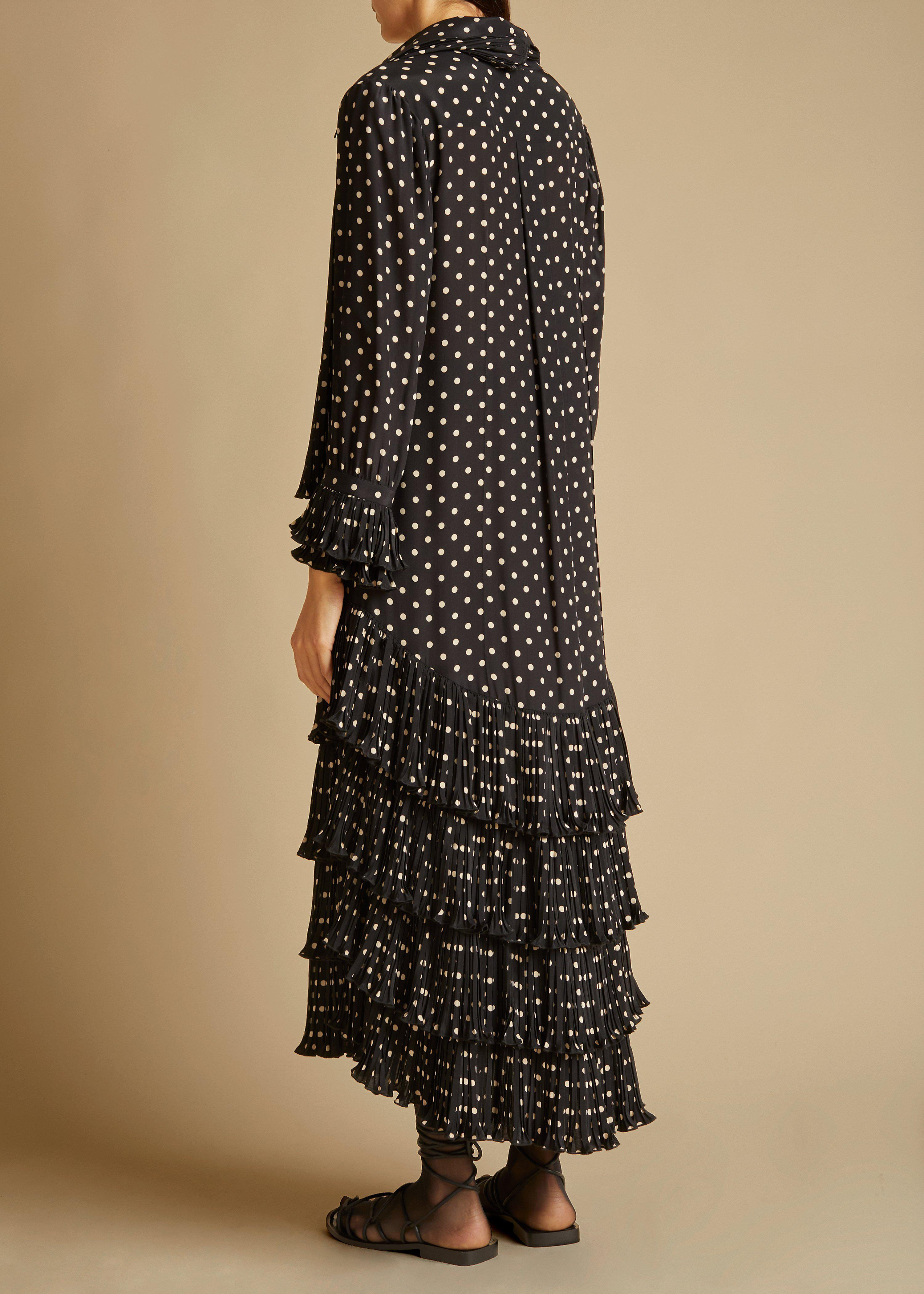 The Dolly Dress in Black and Creme Dot 2