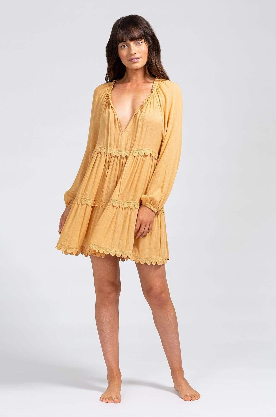 Sofia Breezy Weave Cover-Up - Straw