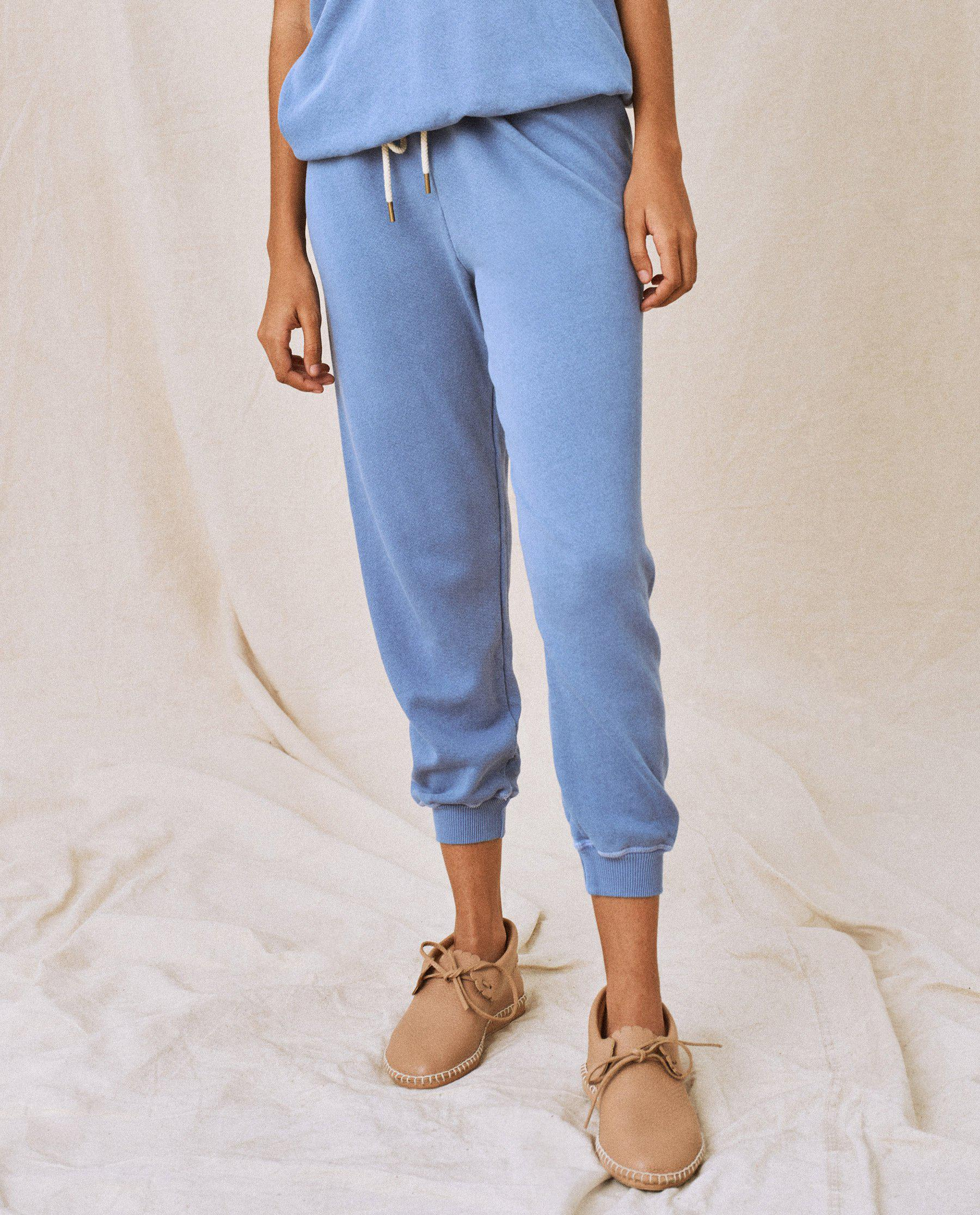 The Cropped Sweatpant. Solid -- Dutch Blue 2