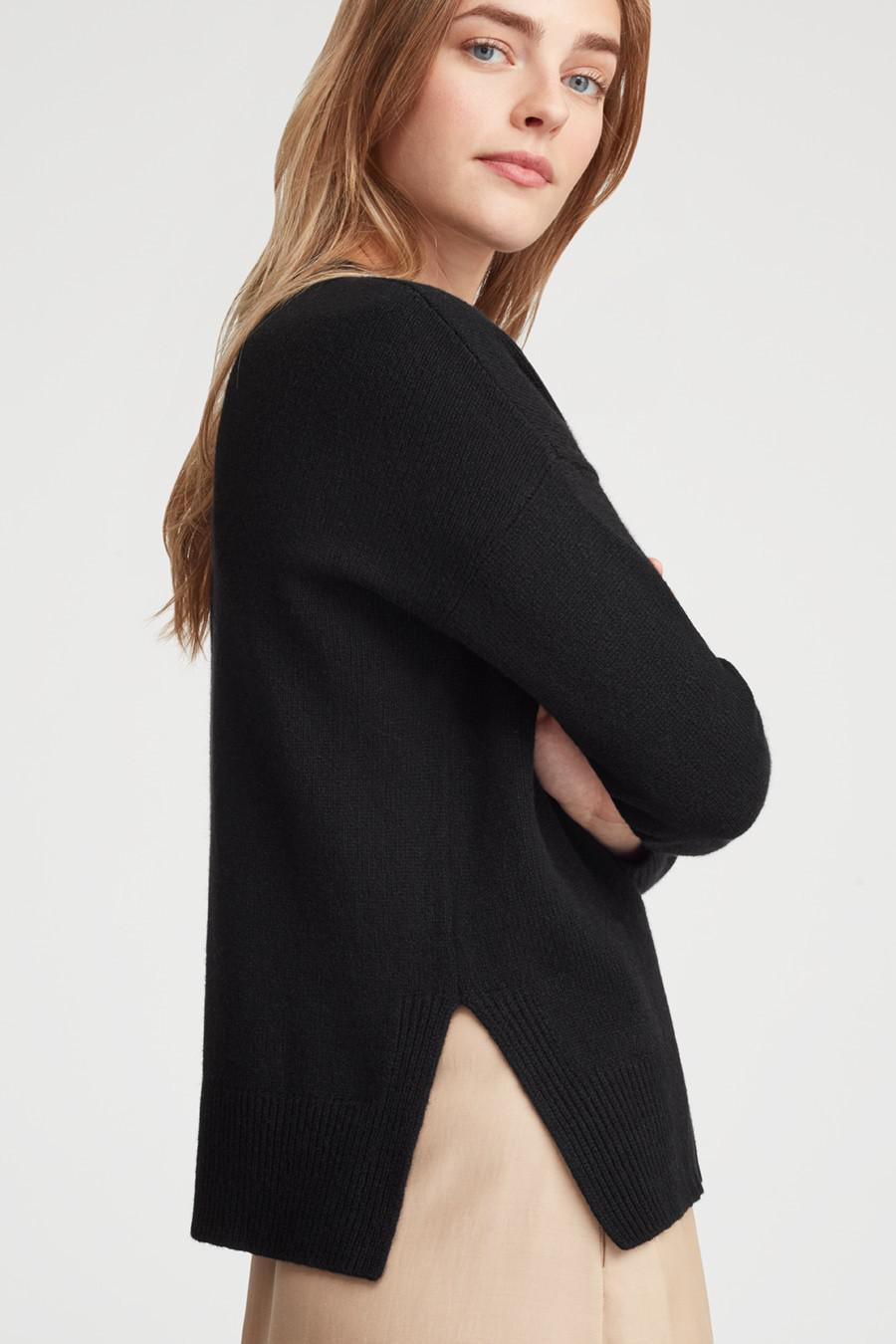 Women's Recycled Crewneck Sweater in Black   Size: 4