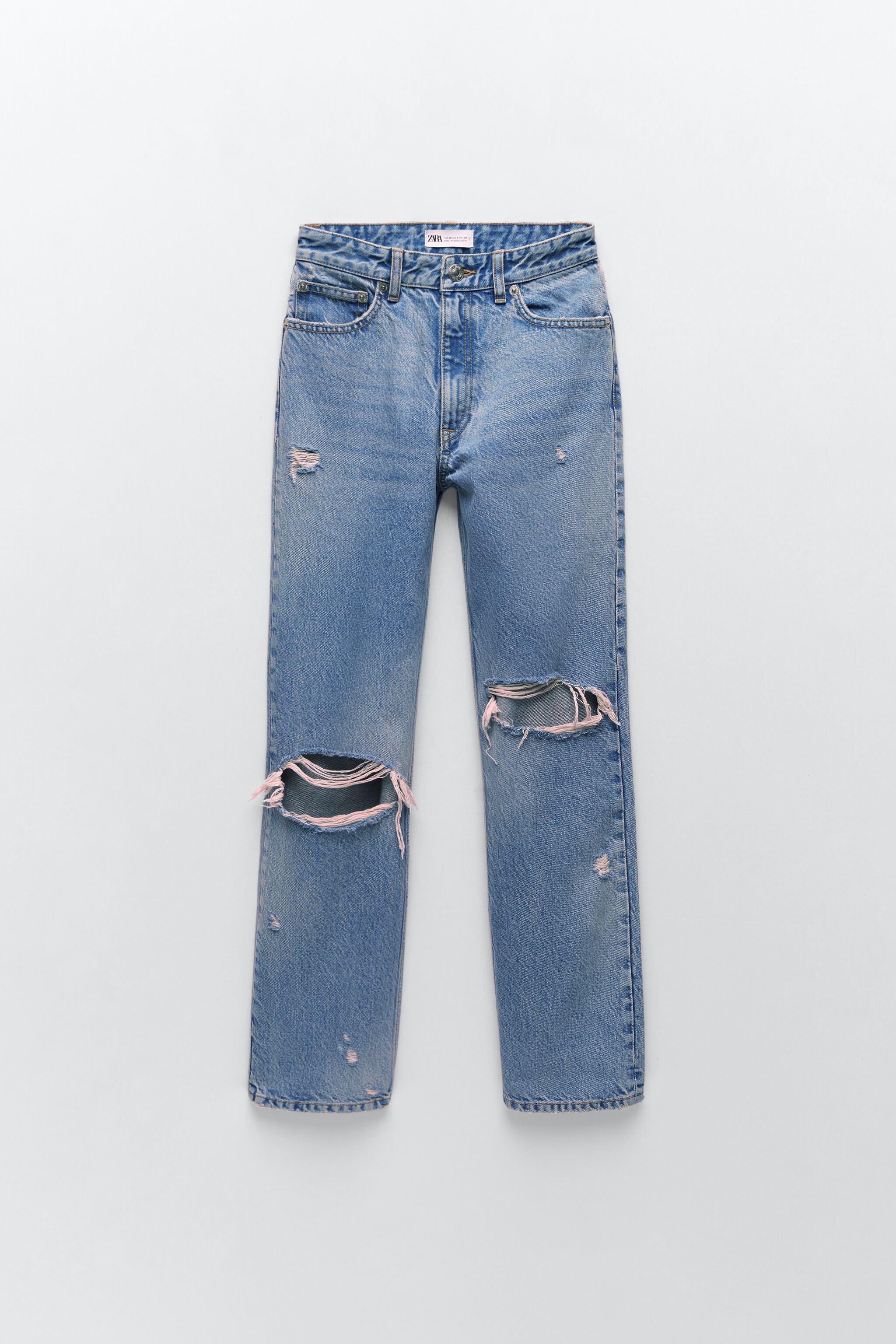 RIPPED STAIN DYE JEANS 4