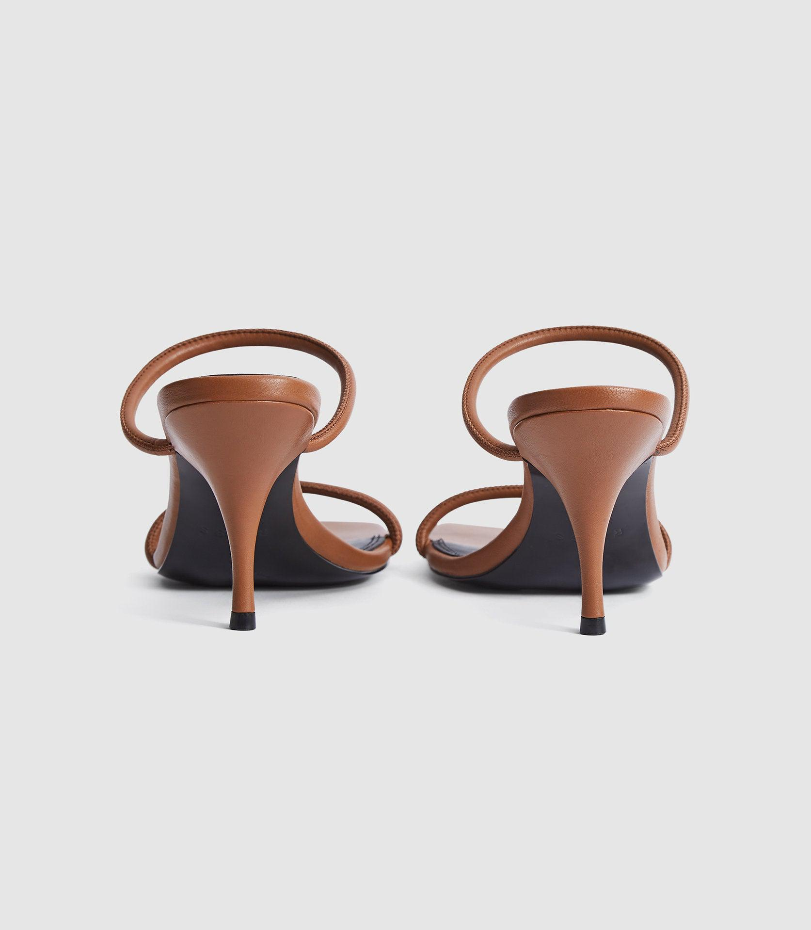 MAGDA - LEATHER STRAPPY HEELED SANDALS 3