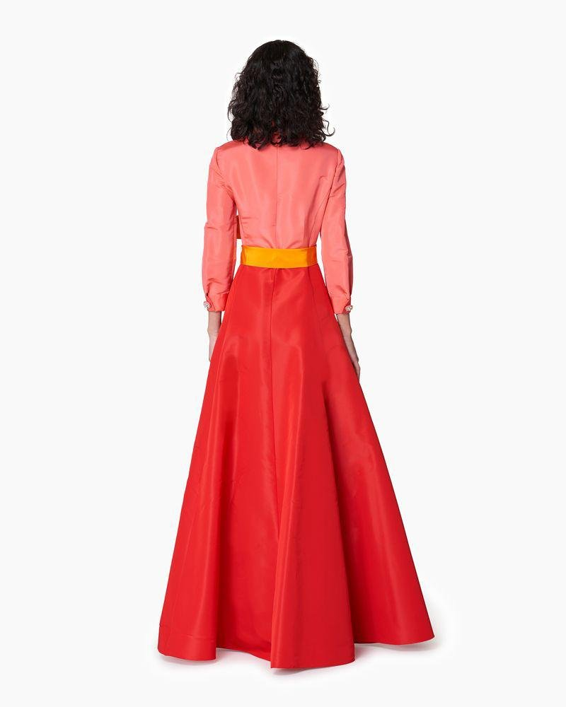 Shirt Gown with Sash 1