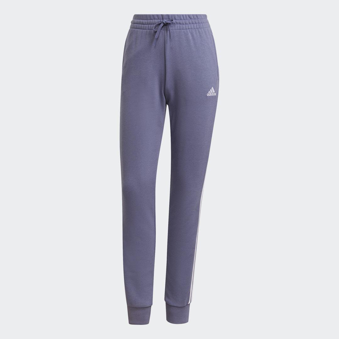 Essentials French Terry 3-Stripes Pants Orbit Violet 7