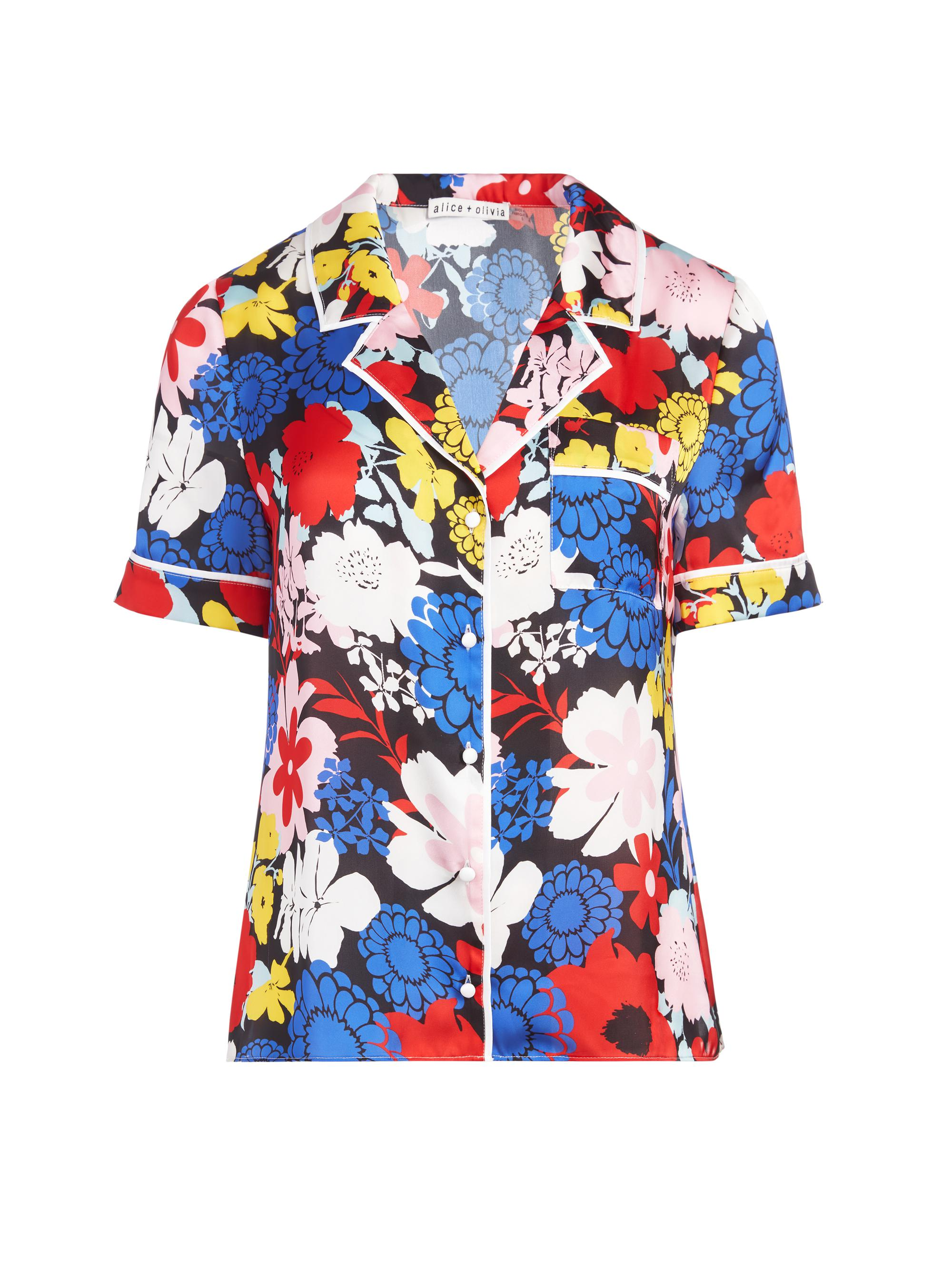 RAMONA PIPED BUTTON DOWN TOP 4