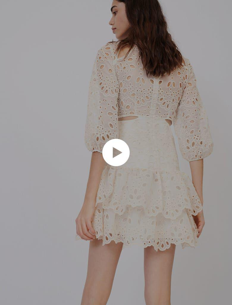 EYELET MINI DRESS WITH CUT-OUTS 4