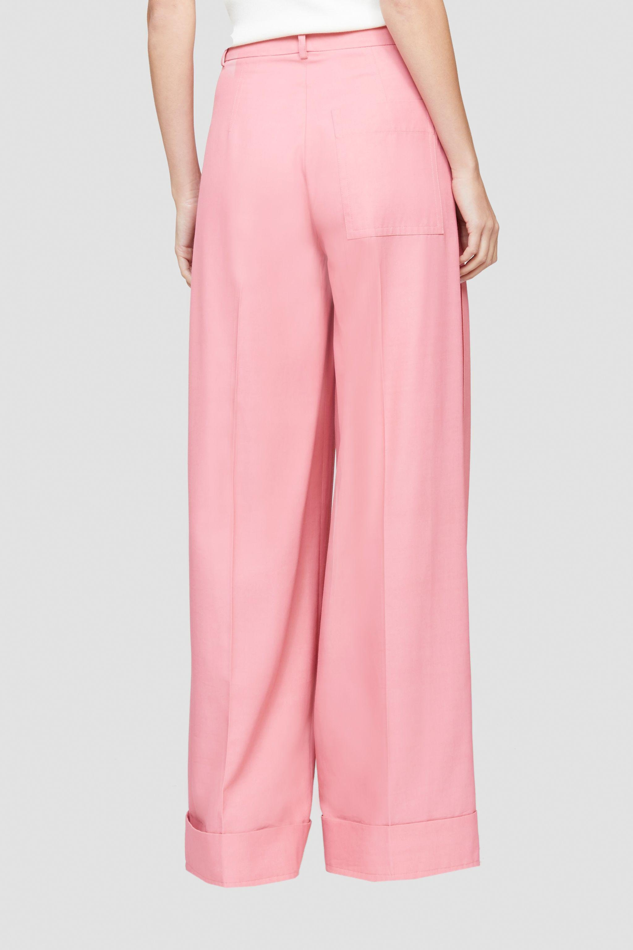 Flou pressed-crease palazzo trousers 3