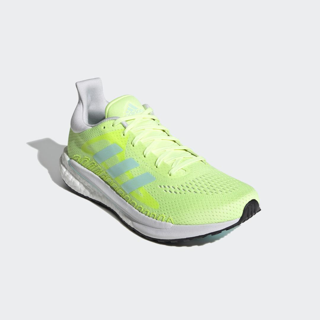 SolarGlide Shoes Hi-Res Yellow 5.5 - Womens Running Shoes