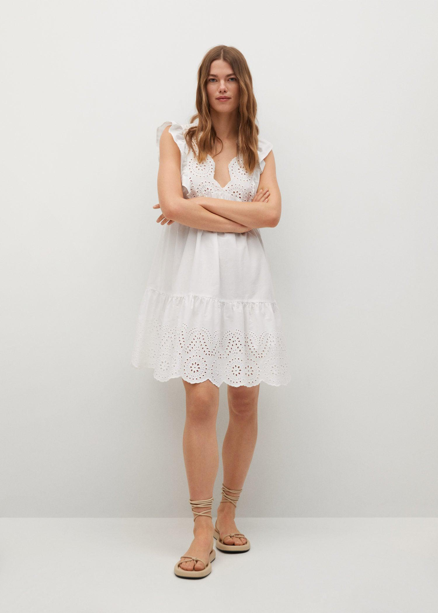 Broderie anglaise cotton dress 1