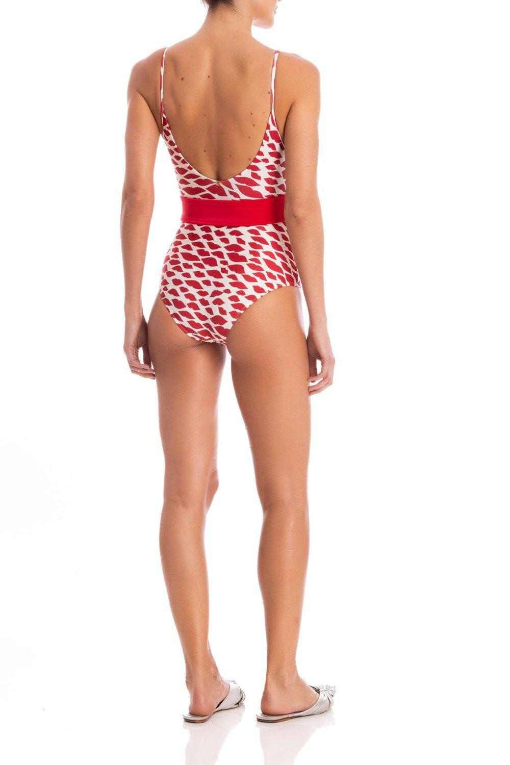 Bacio Swimsuit With Straps and Belt 2