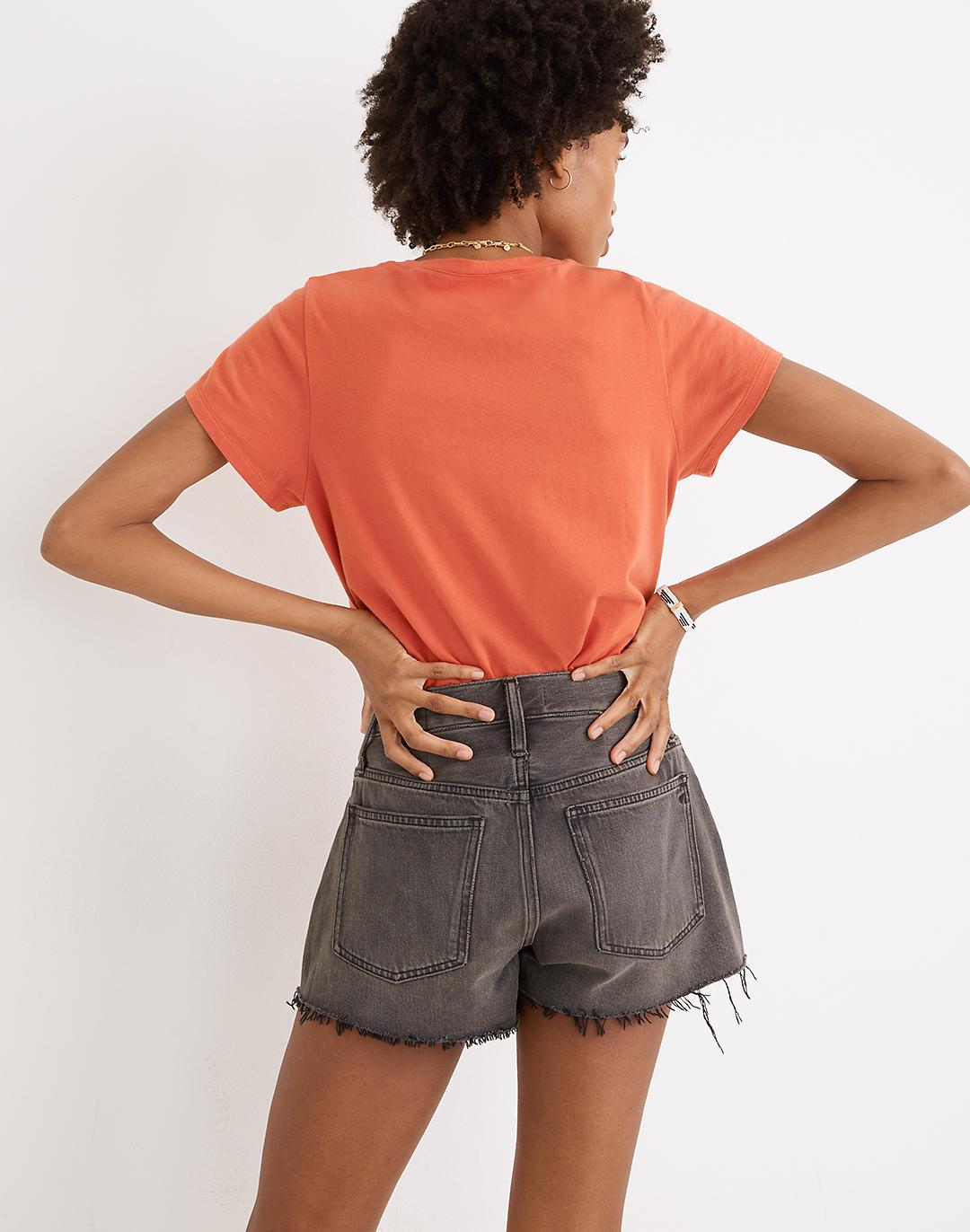 Relaxed Denim Shorts in Bienville Wash 2