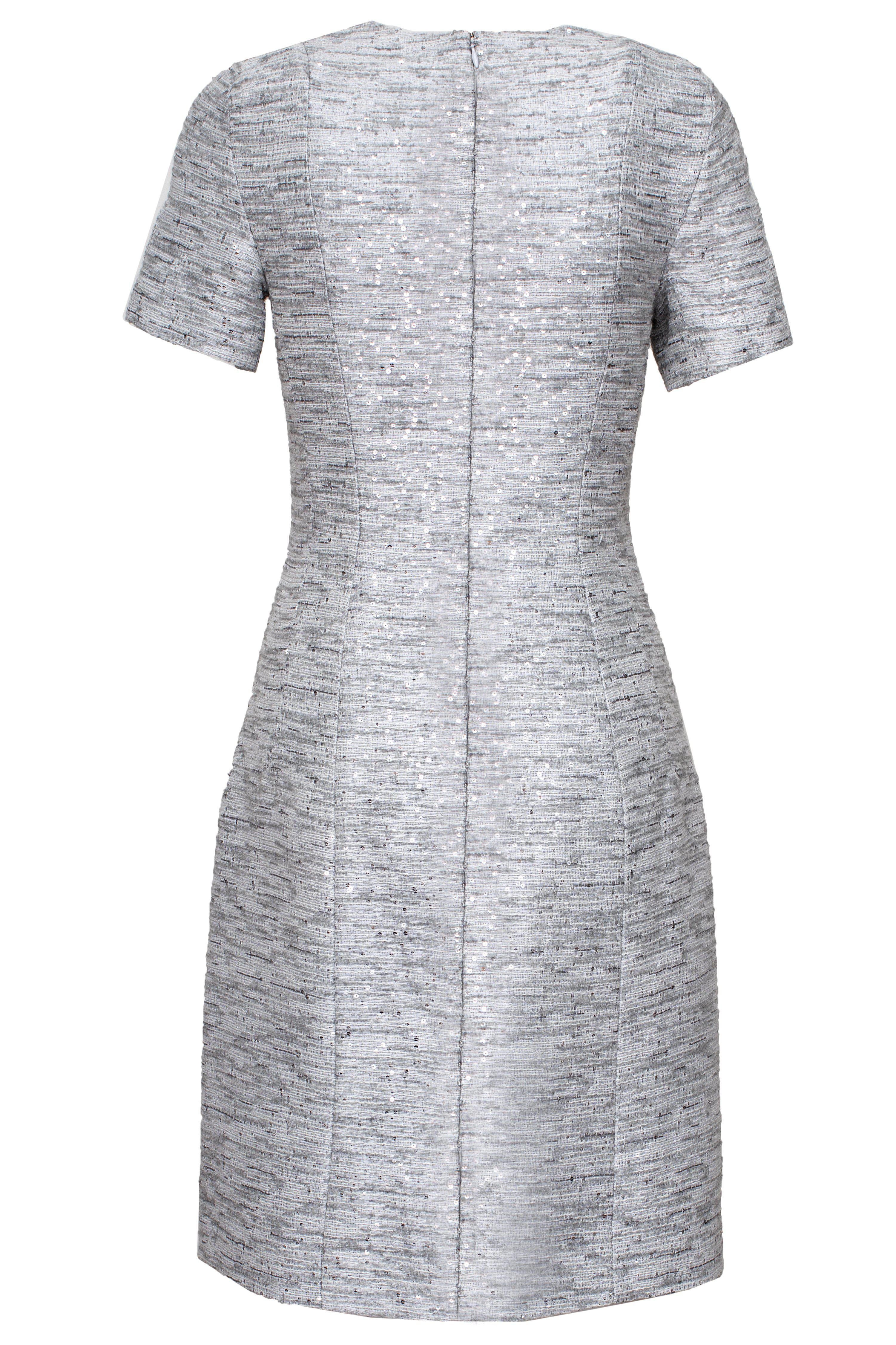 SEQUINED WOOL DRESS 2
