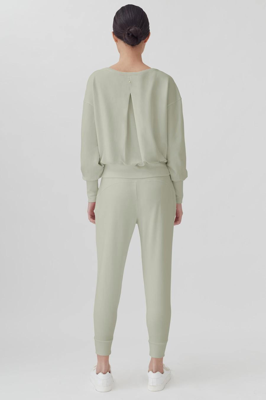 Women's French Terry Boatneck Sweatshirt in Sage | Size: 2