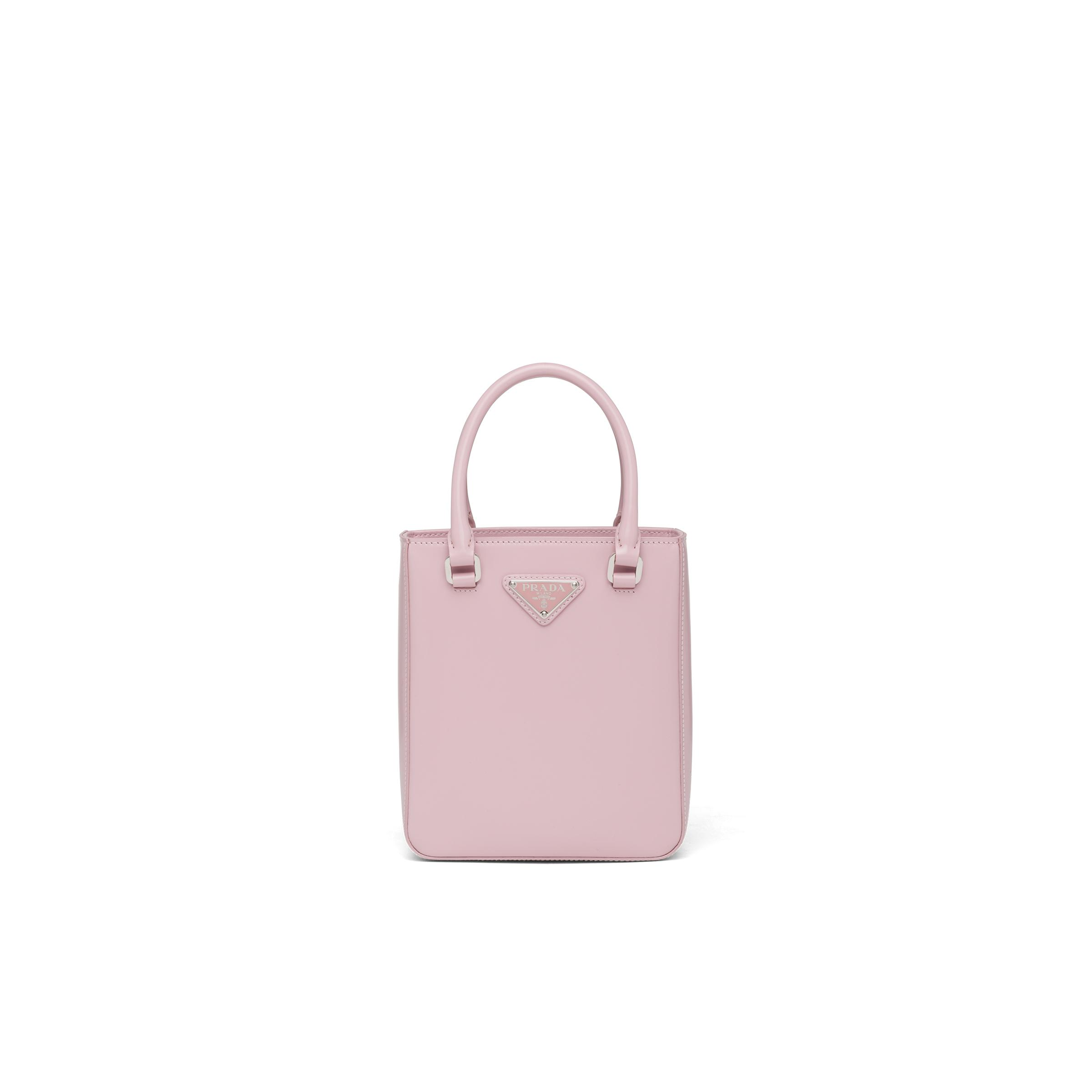 Small Brushed Leather Tote Women Alabaster Pink