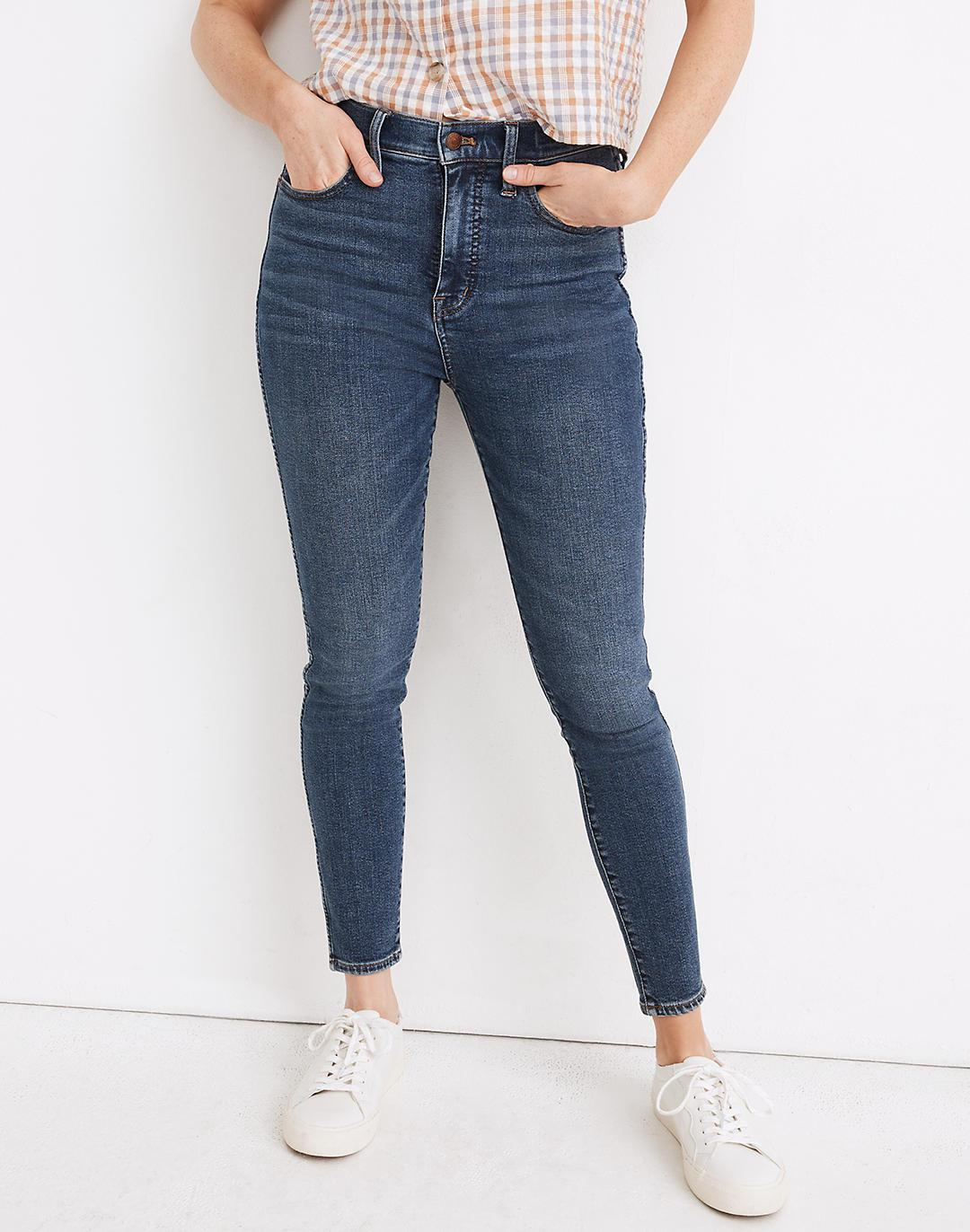 Petite Curvy High-Rise Skinny Jeans in Wendover Wash: TENCEL™ Denim Edition 3