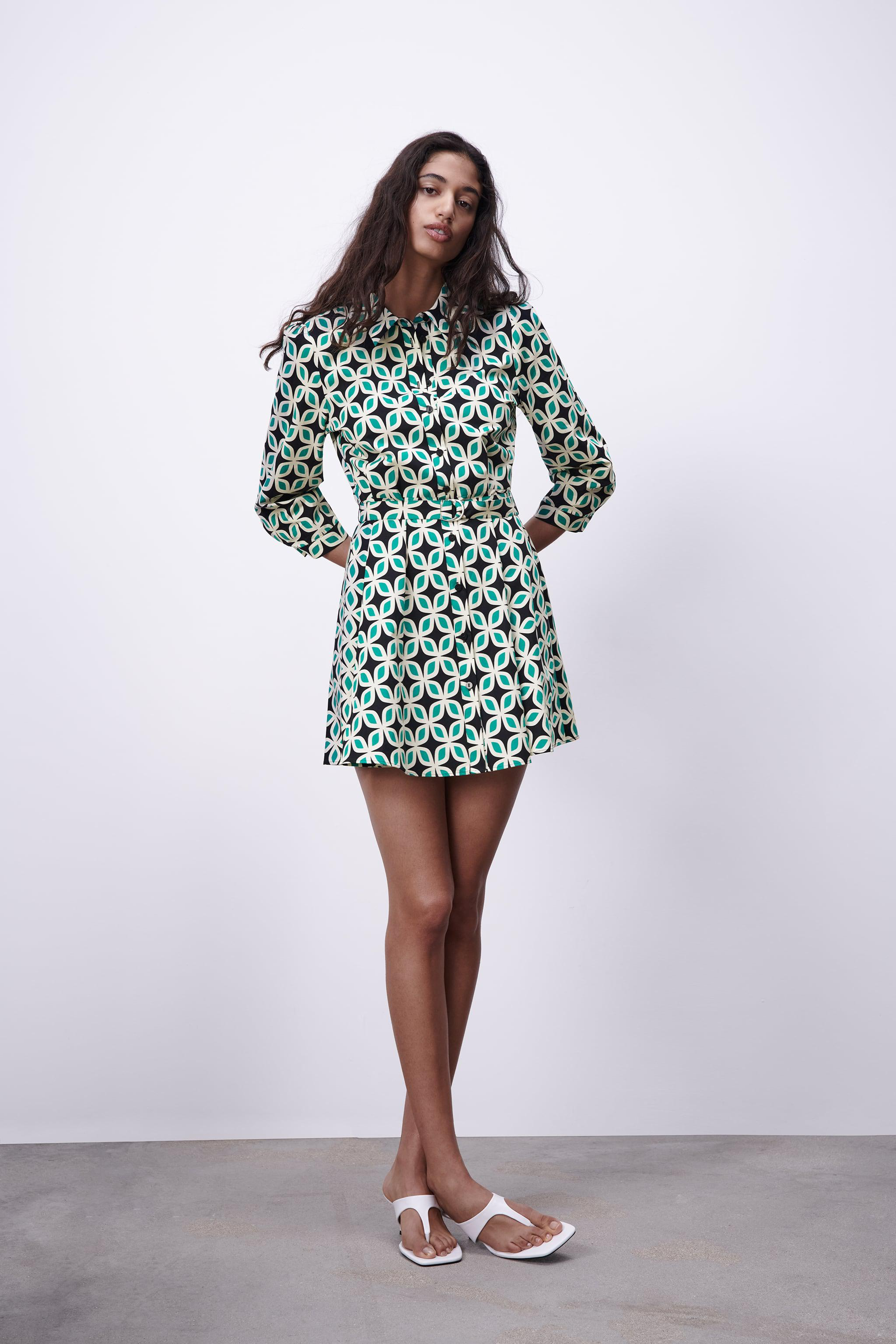 PRINTED DRESS WITH BELT 0