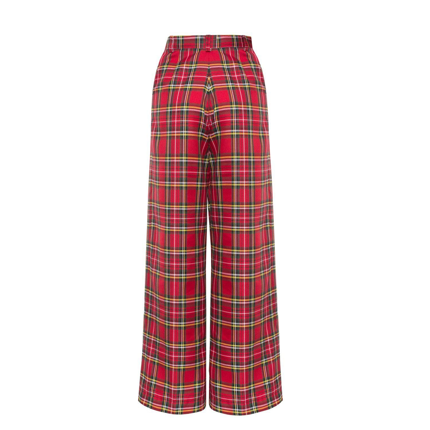 Reality Check Red high-rise trousers 1