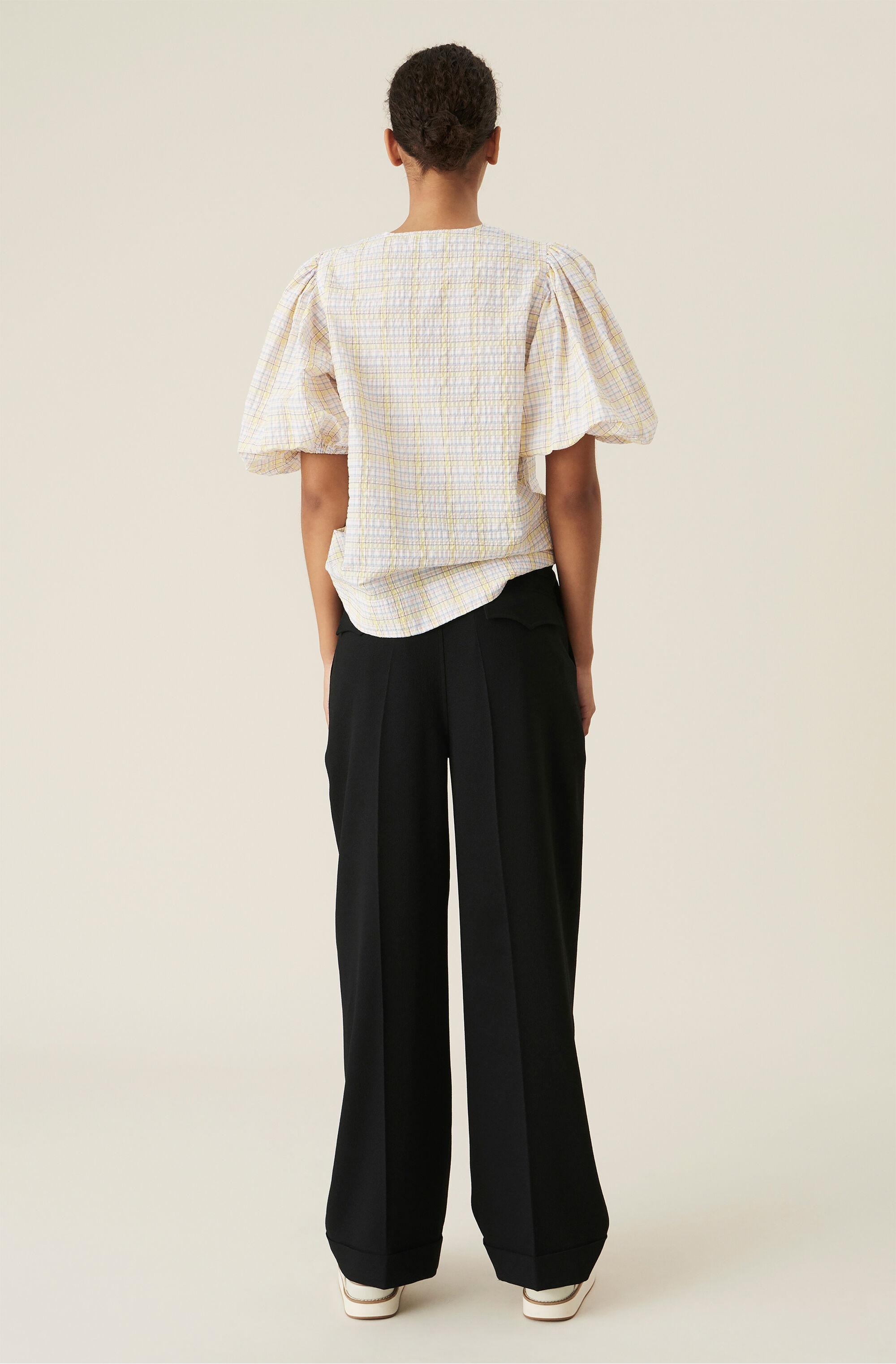 Heavy Crepe  Straight Trousers 1