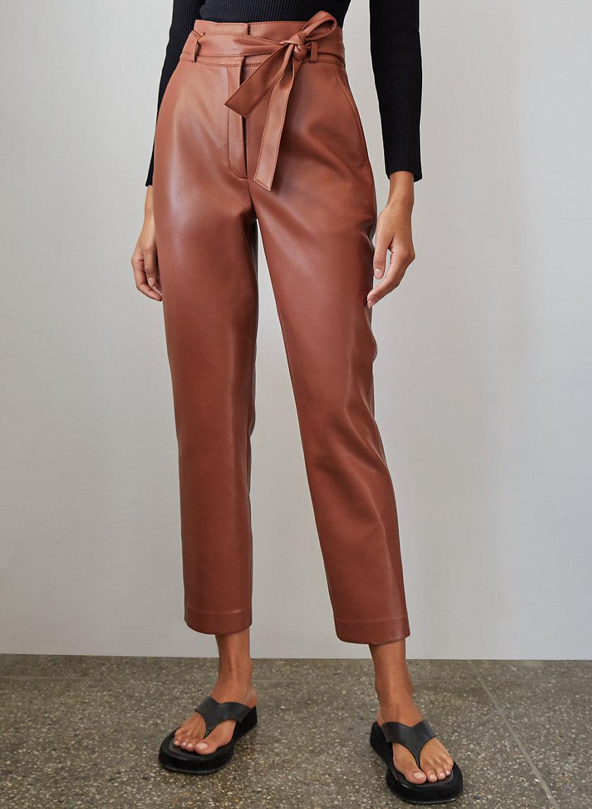 Vegan Leather Belted Pant 1