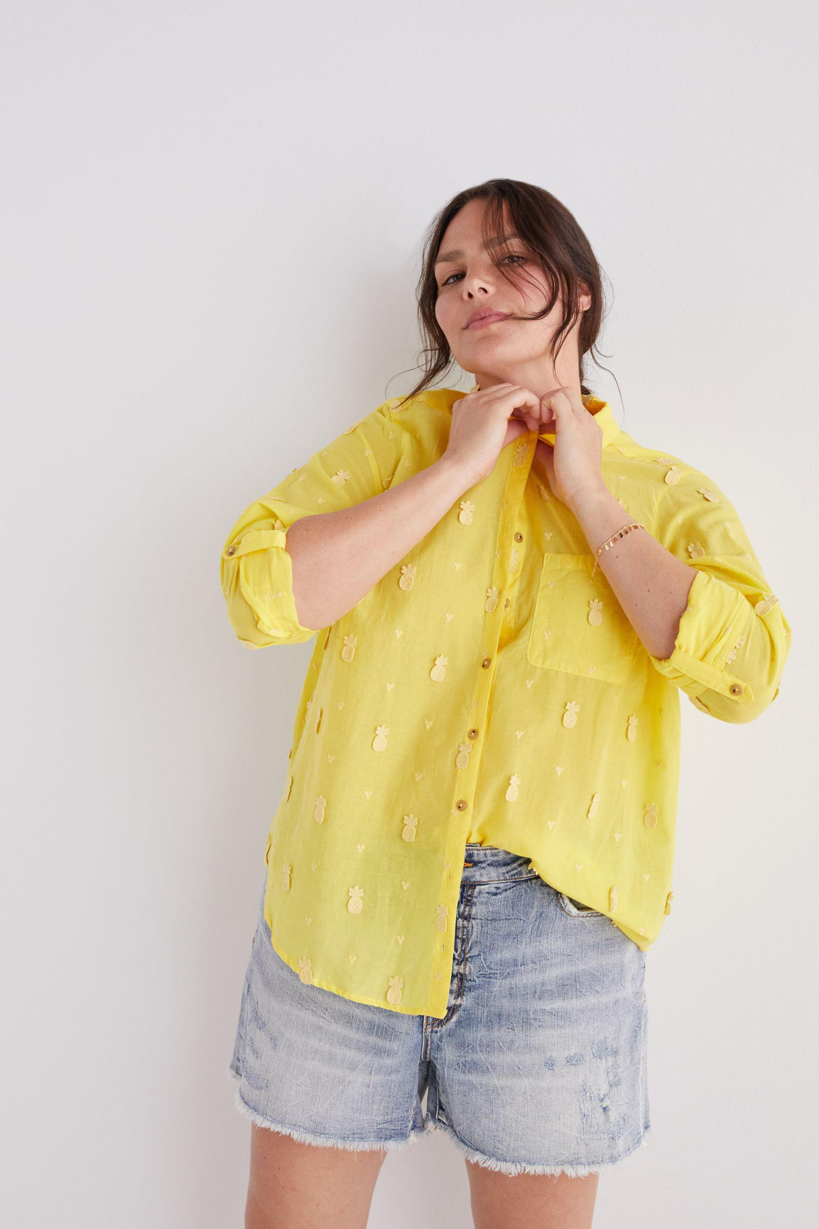 Maeve Classic Embroidered Buttondown 3