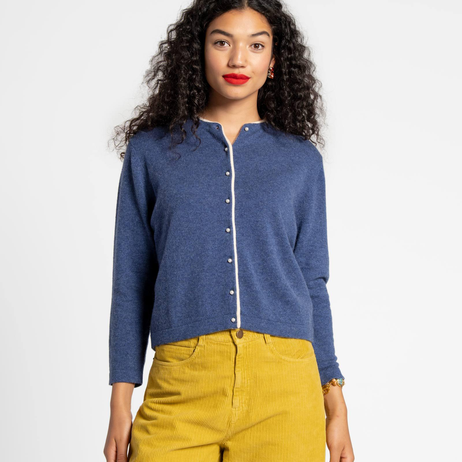 Darling Cardigan Cashmere French Blue