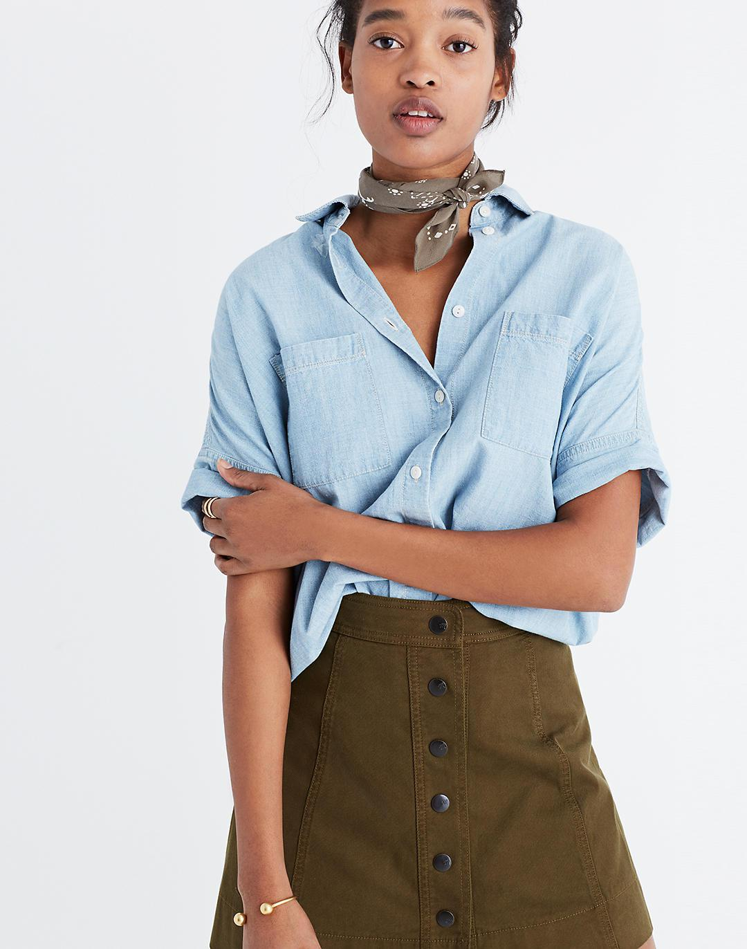 Chambray Courier Shirt in Buckley Wash