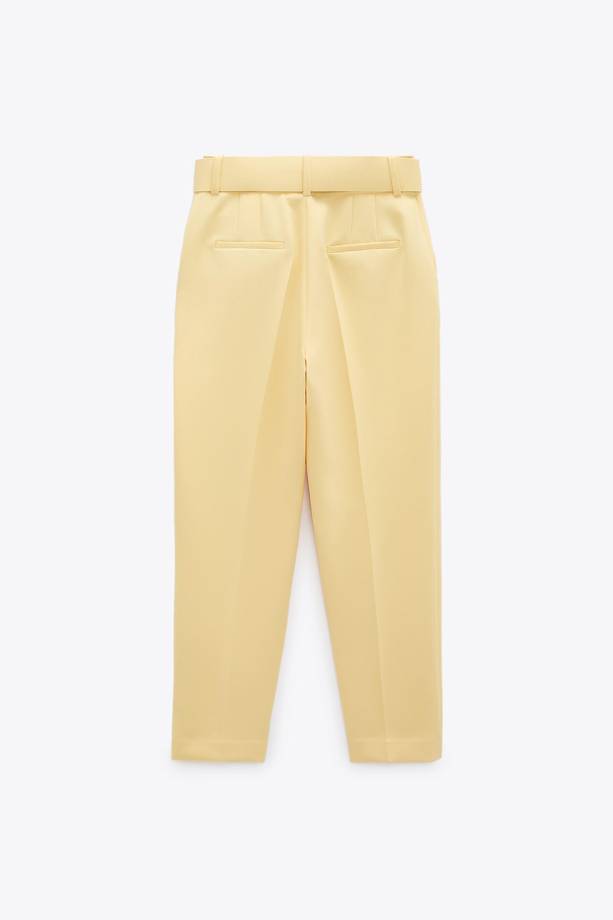HIGH-WAISTED BELTED PANTS 7
