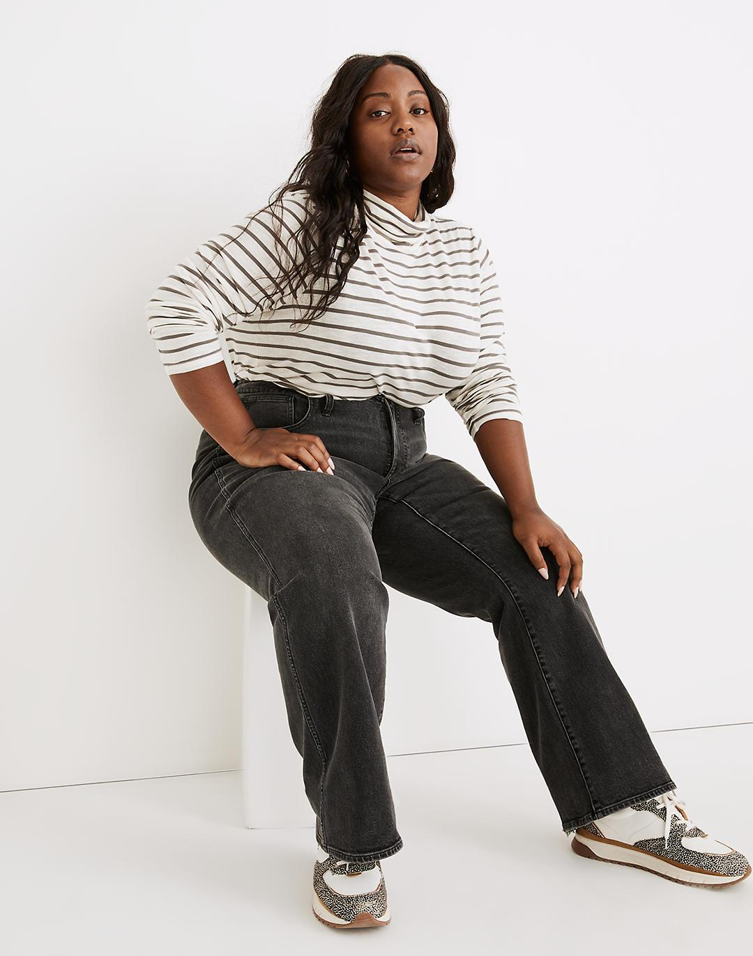 Plus Curvy High-Rise Bootcut Jeans in Lindale Wash