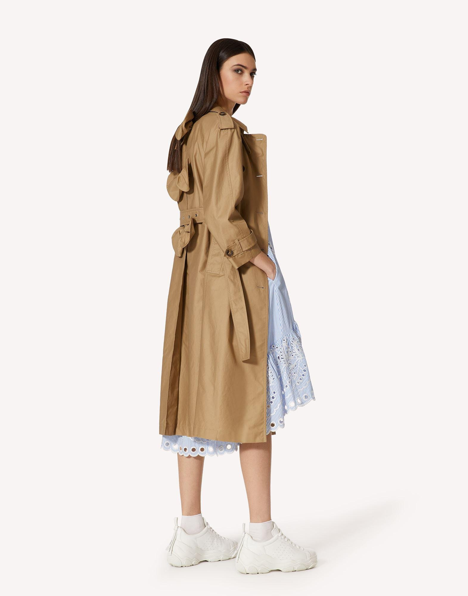 GABARDINE TRENCH COAT WITH BOW DETAILS 2