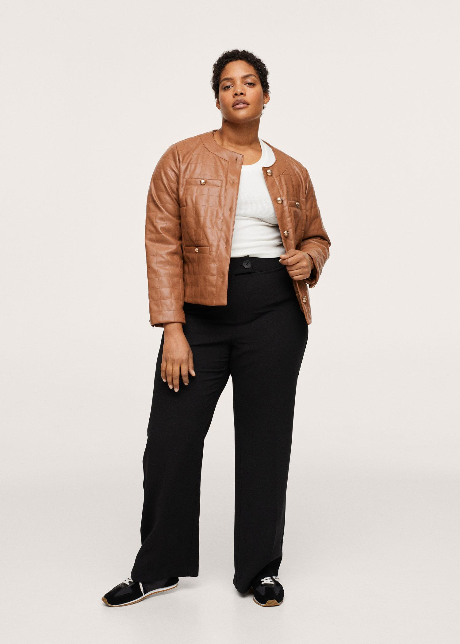 Buttoned texture jacket