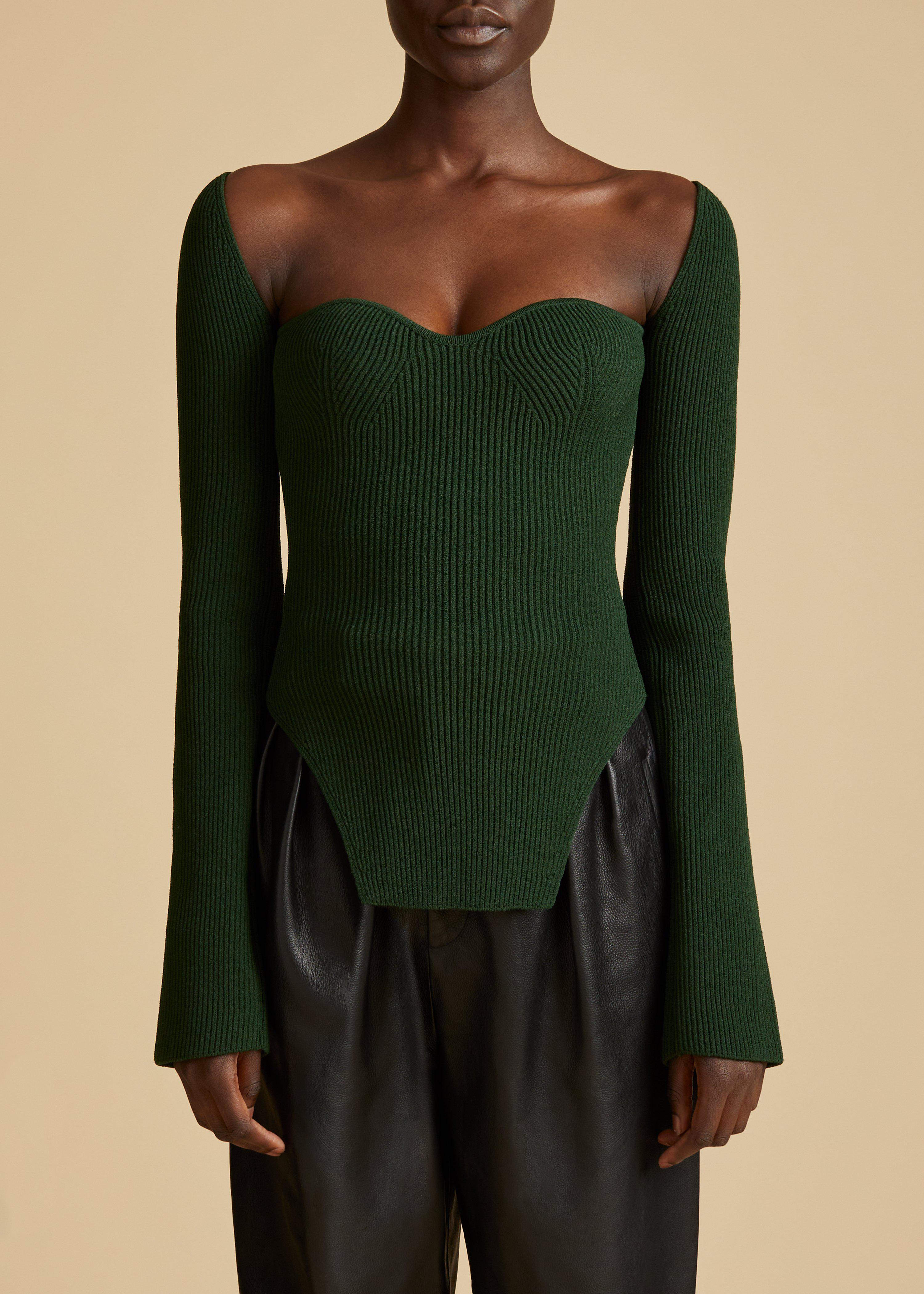 The Maddy Top in Deep Vert 0
