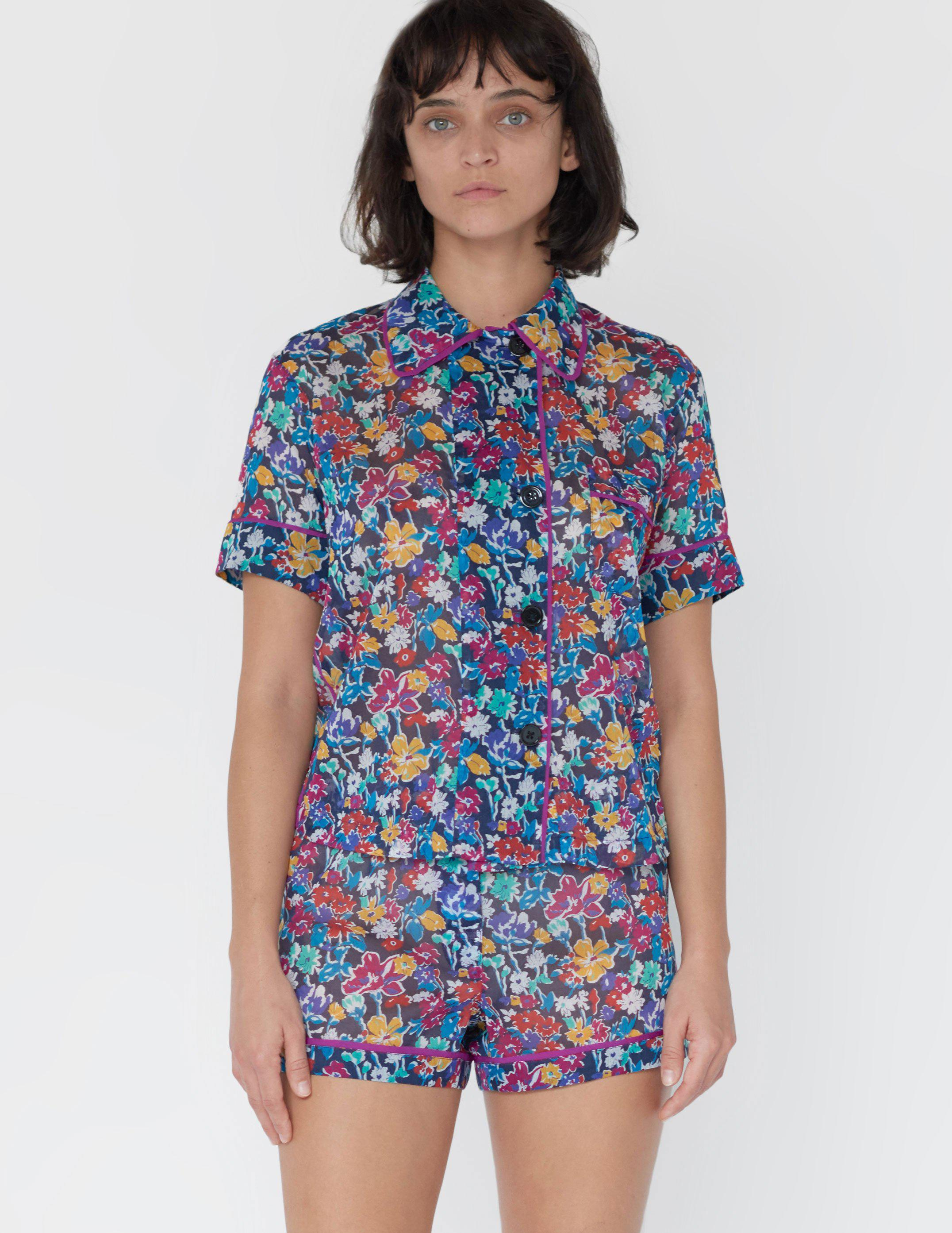 Shelby Pajama Top Floral Midnight