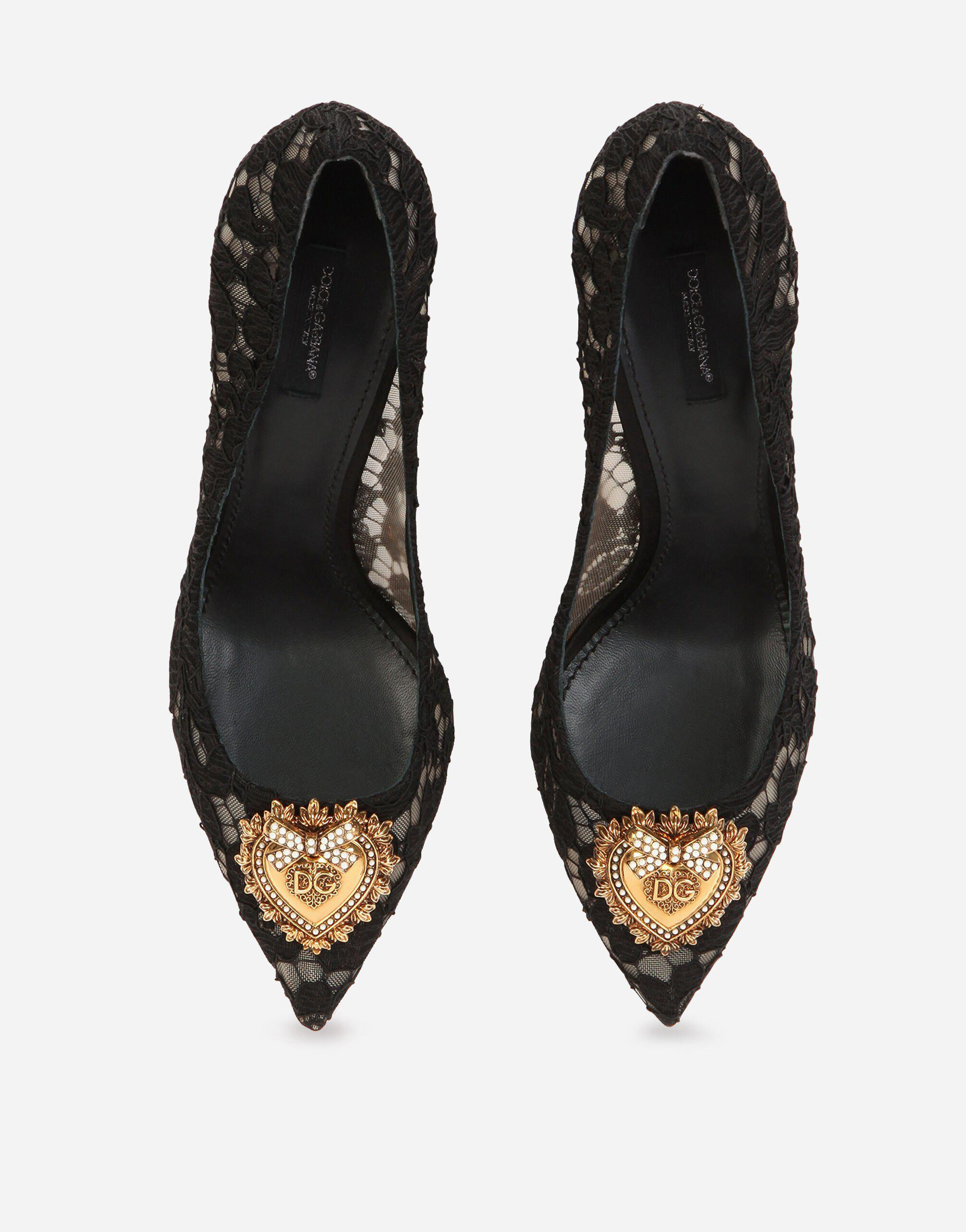 Taormina lace pumps with Devotion heart 3