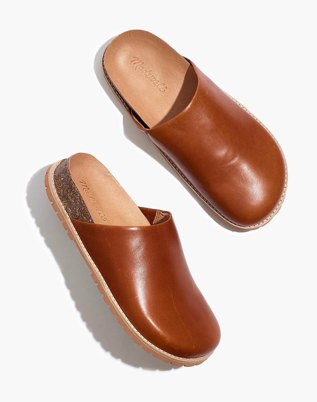 The Layne Clog Mule in Leather