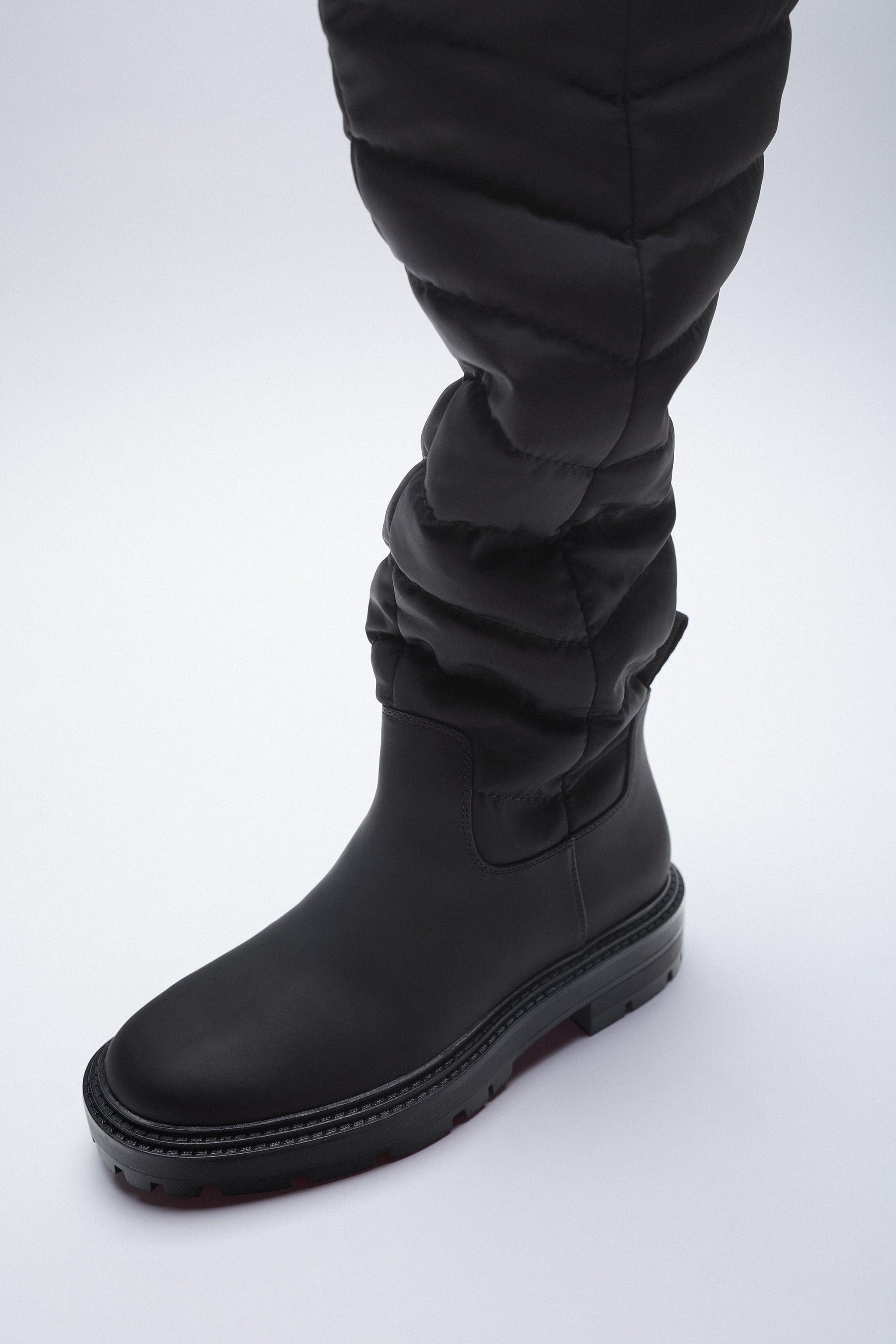 LOW HEEL QUILTED TALL BOOTS 3