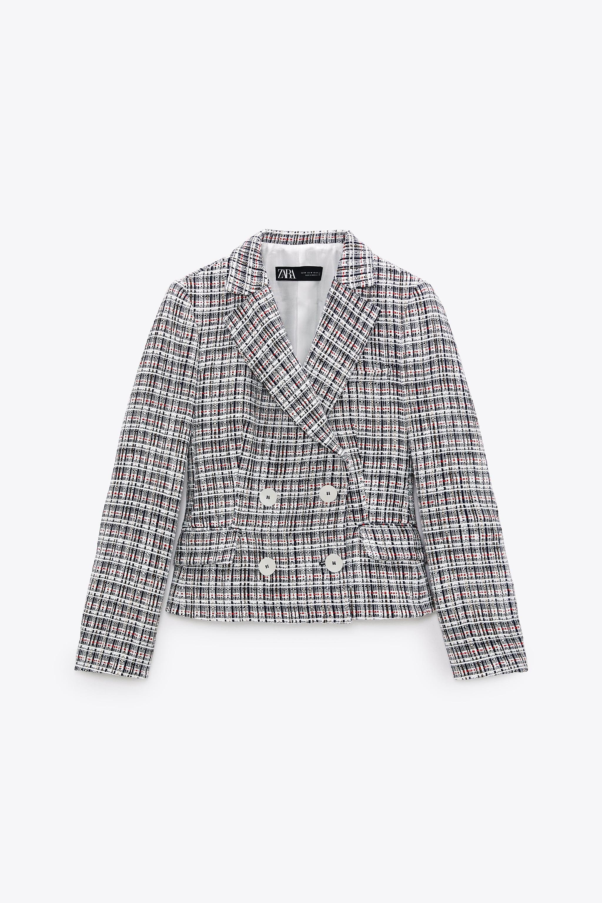 DOUBLE BREASTED TEXTURED WEAVE JACKET 8