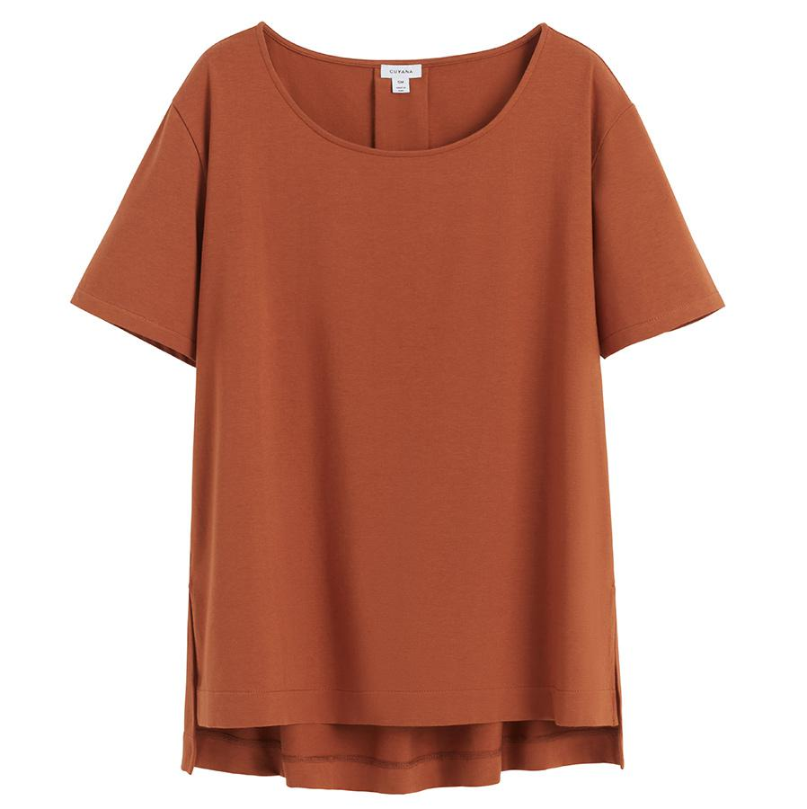 Women's High-Low Tee in Ginger | Size: