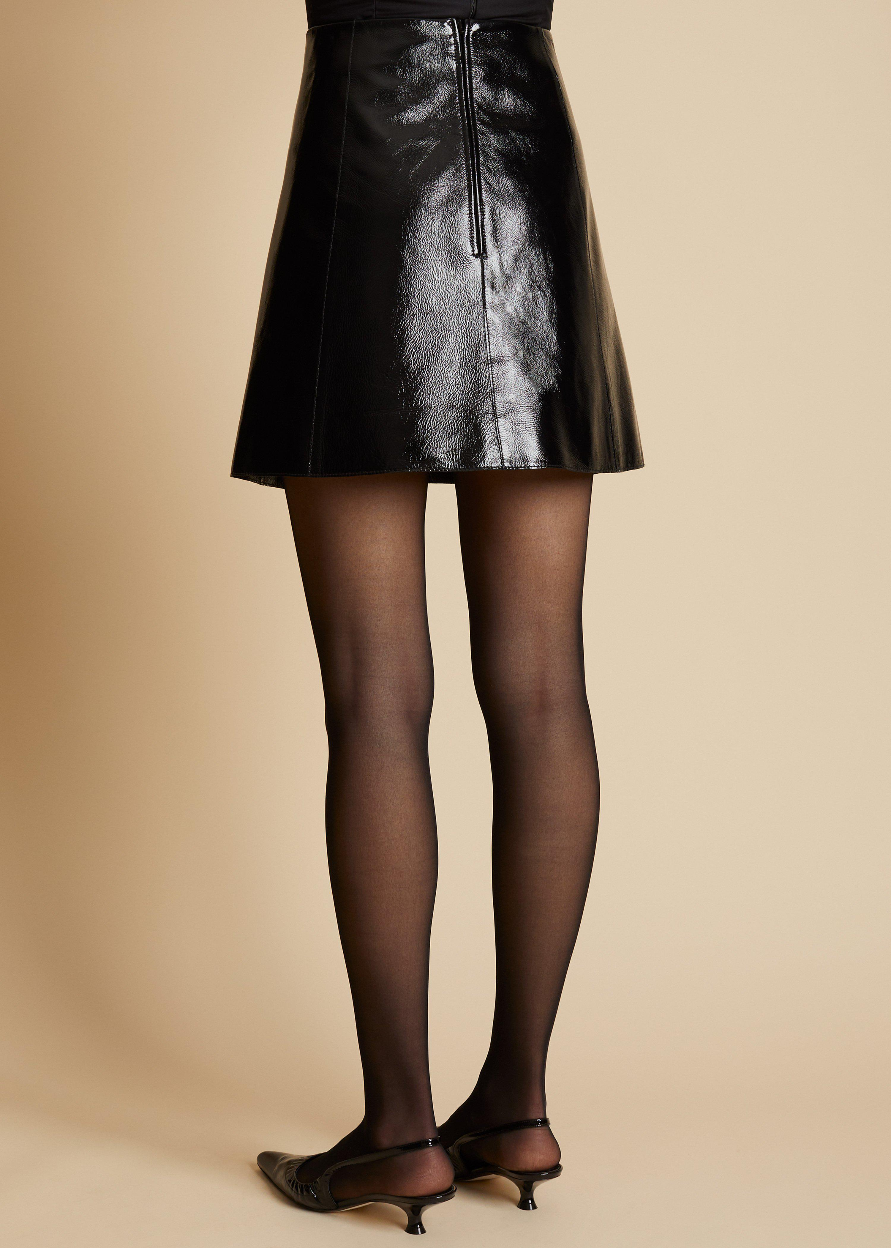 The Sam Skirt in Black Patent Leather 2