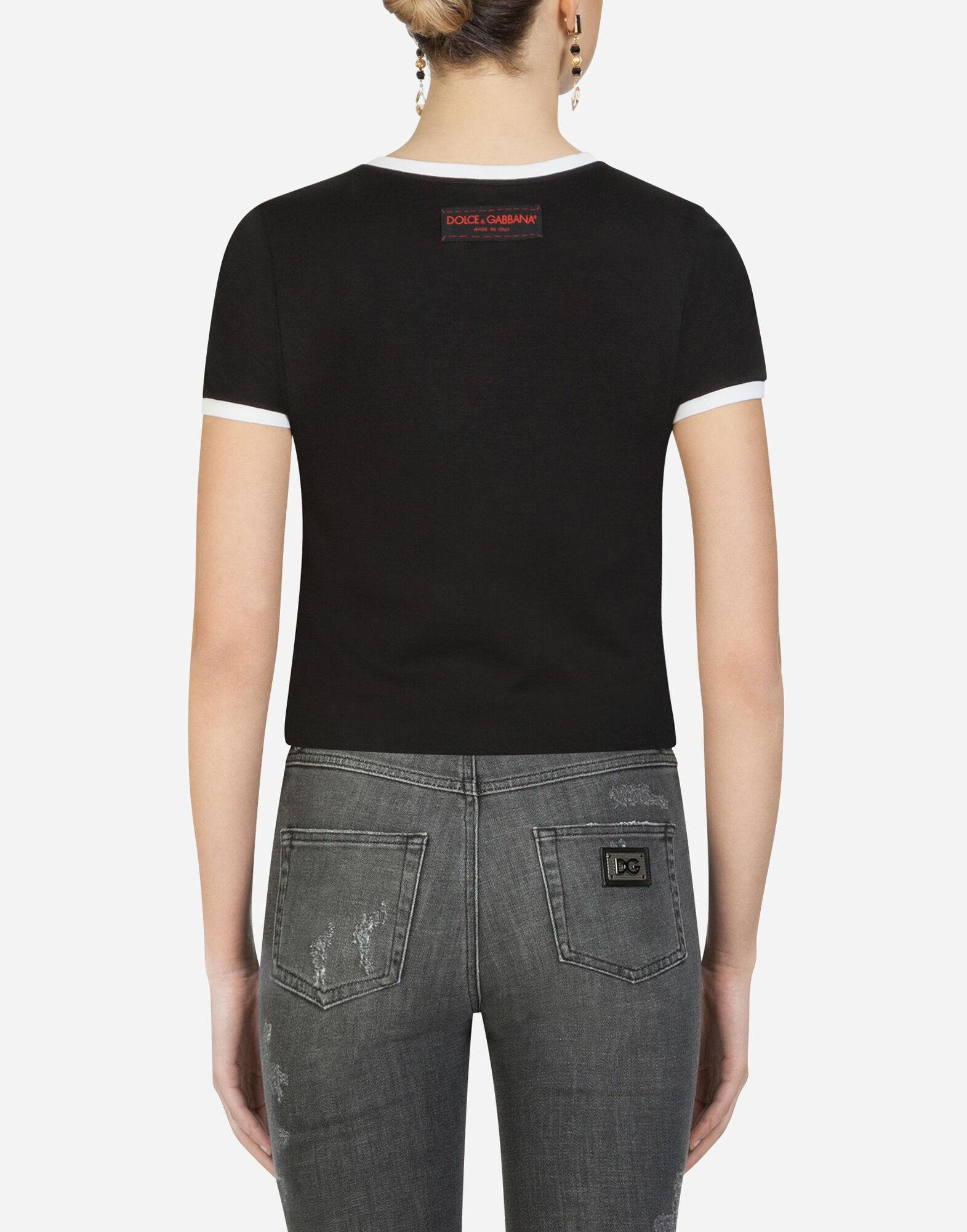 T-shirt with leopard patch 1