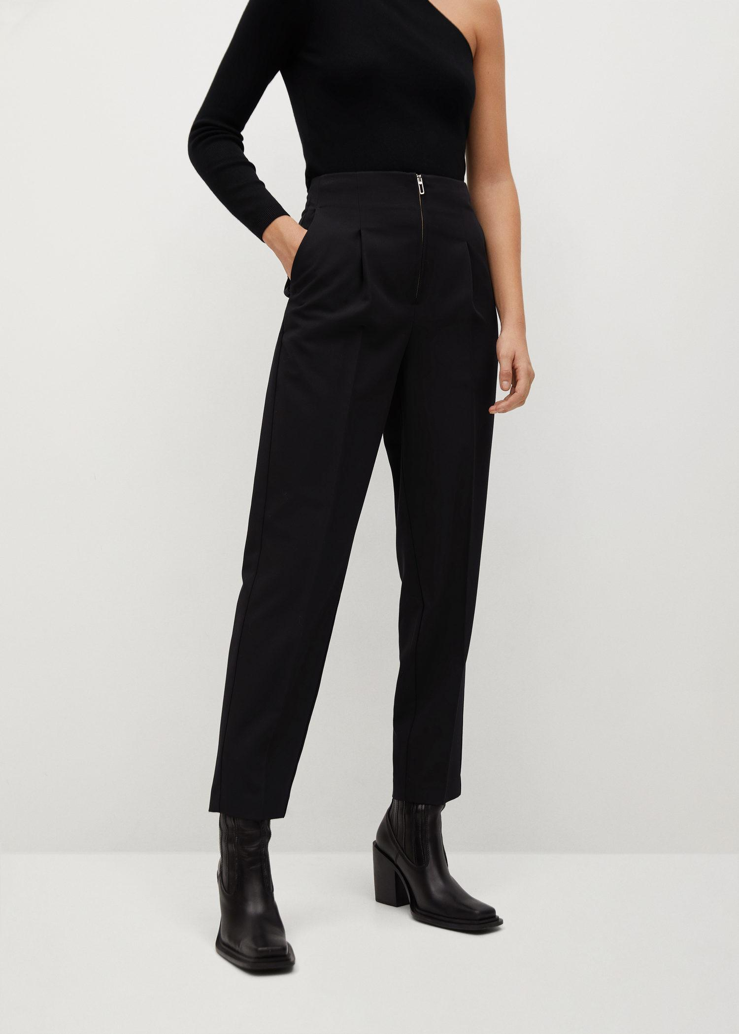 Pleated pants with zip 0